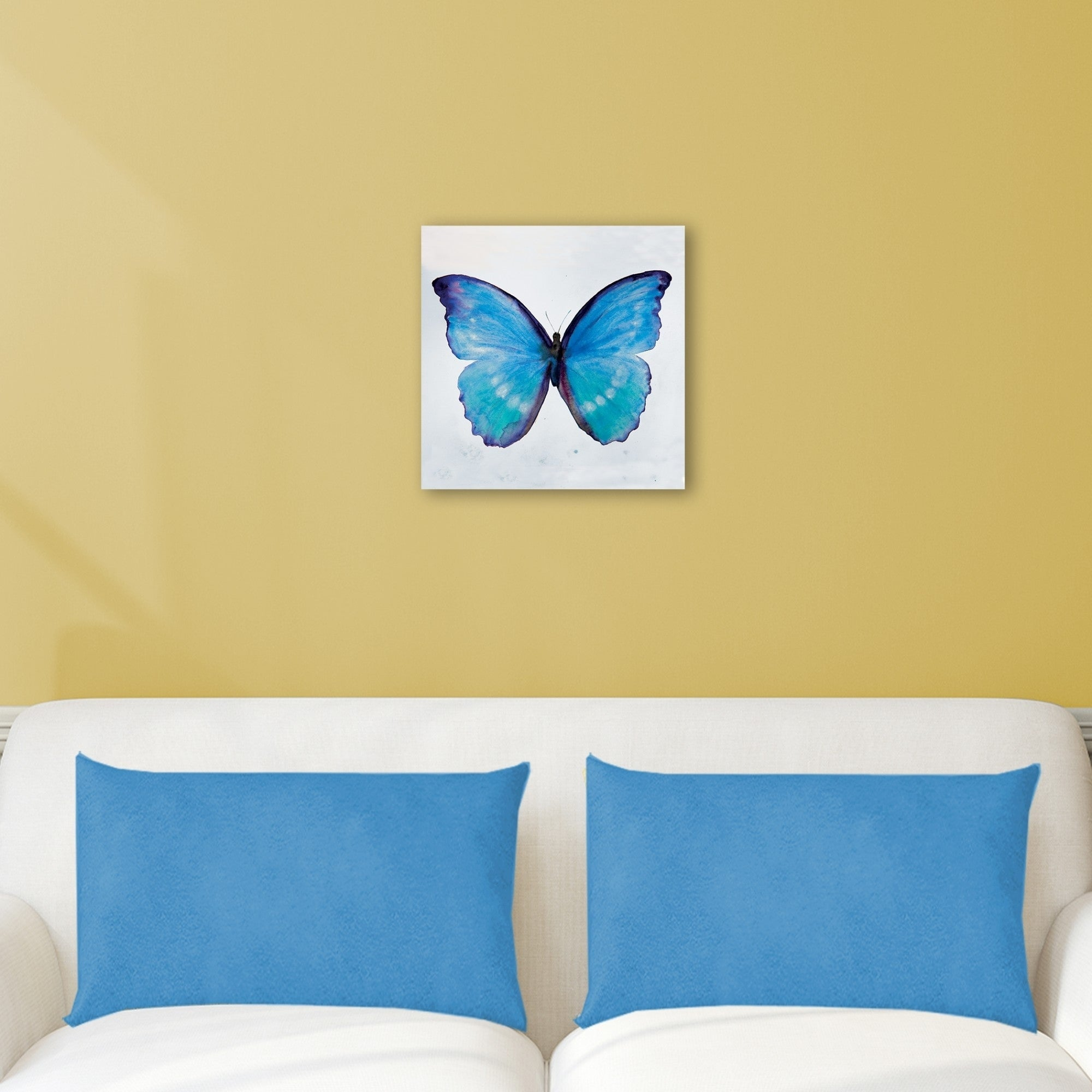 Portfolio Canvas Decor Blue Butterfly I Wrapped Canvas Wall Art ...