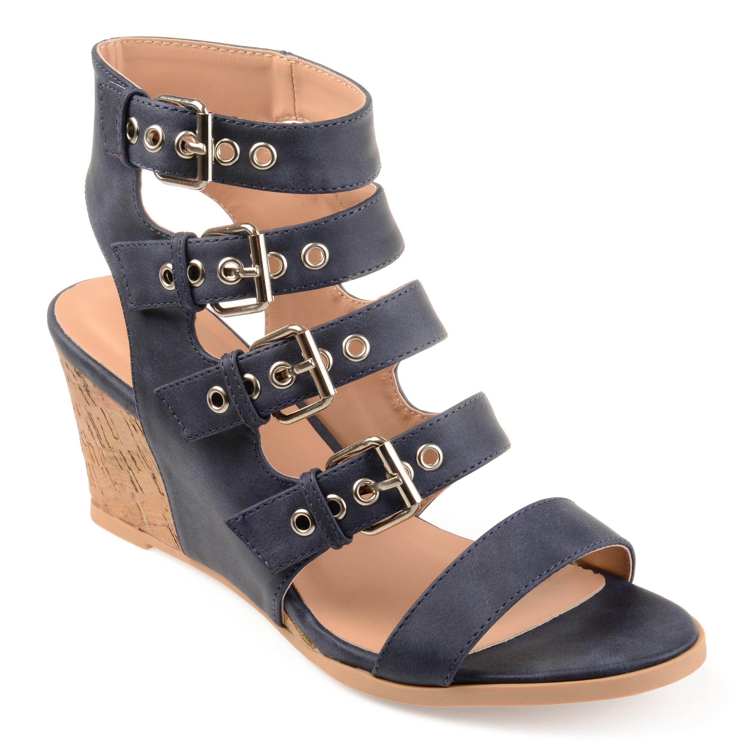 Journee Collection Monika ... Women's Wedge Sandals 4XpcQyrFC
