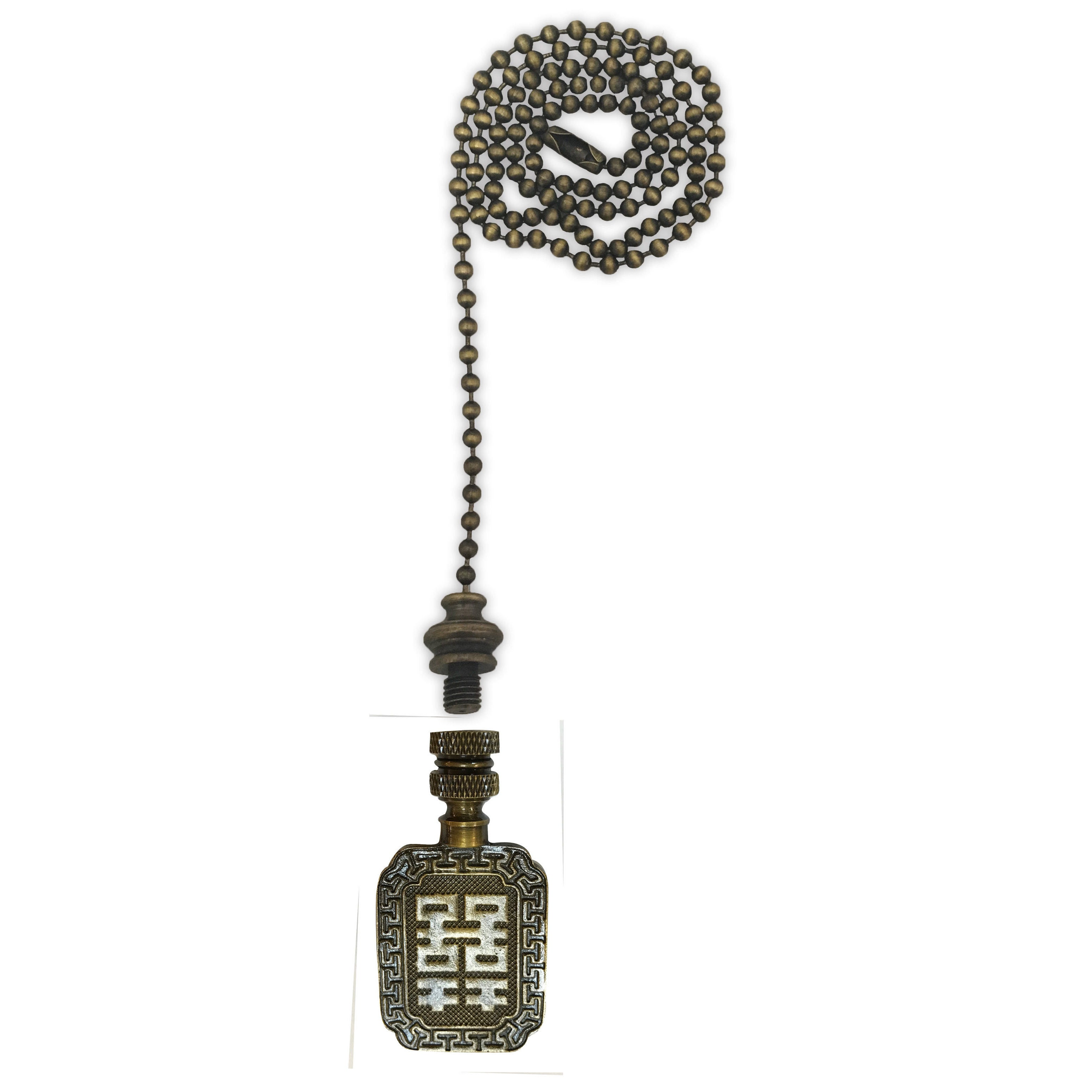 Royal designs fan pull chain with chinese joy symbol finial royal designs fan pull chain with chinese joy symbol finial antique brass free shipping on orders over 45 overstock 25547917 biocorpaavc Images