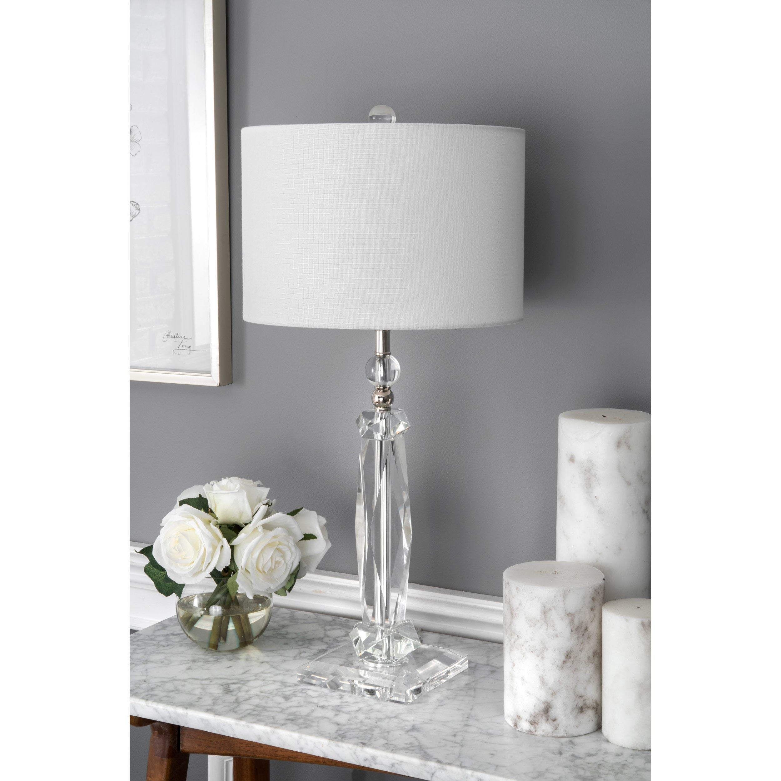 crystals table lamp products grand encased fn chrome lighting lamps