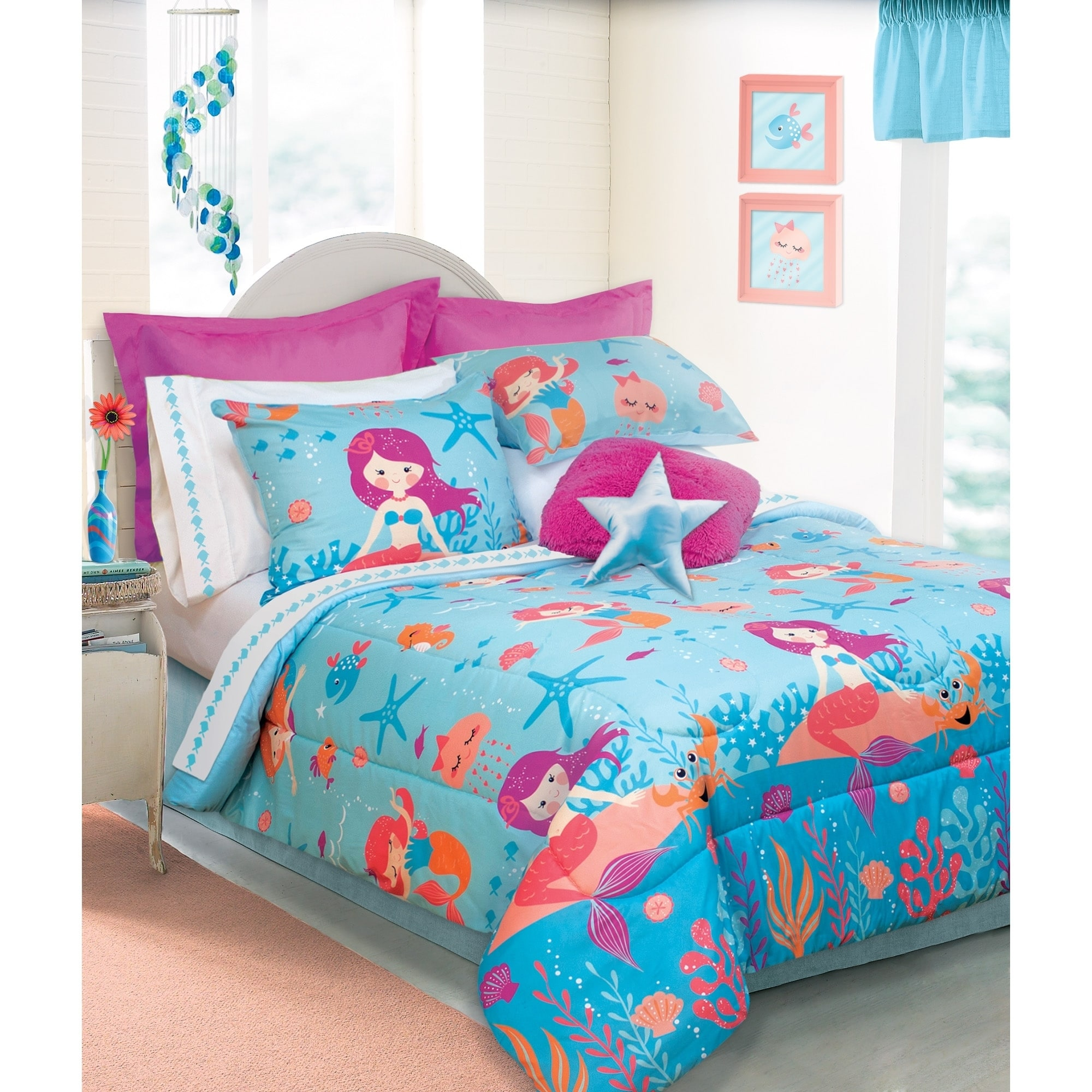 Shop Mermaid 3-piece Comforter Set - Free Shipping On Orders Over ...