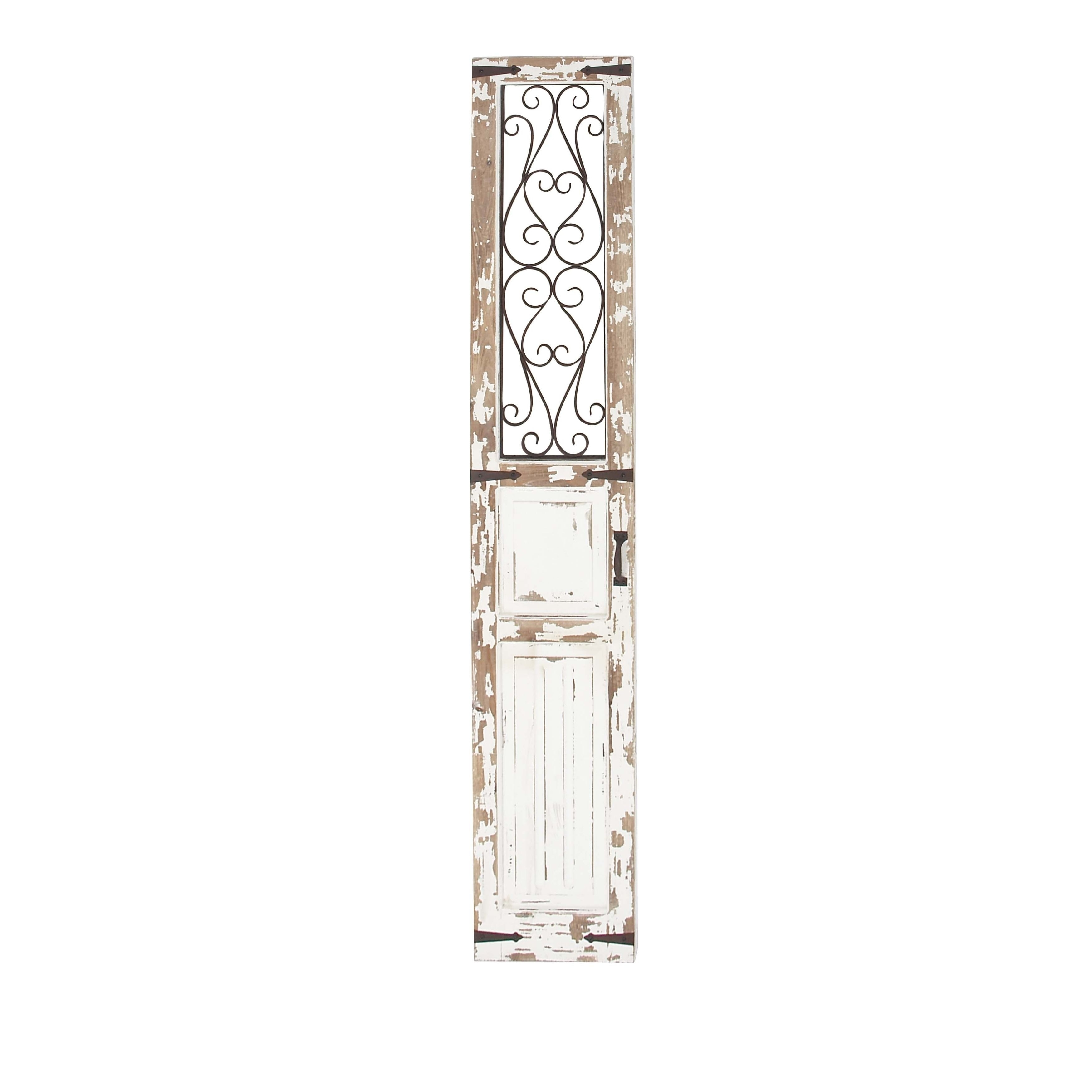 Traditional Distressed Wood With Iron Scrollwork Door Panel Wall Decor On Free Shipping Today 19563318