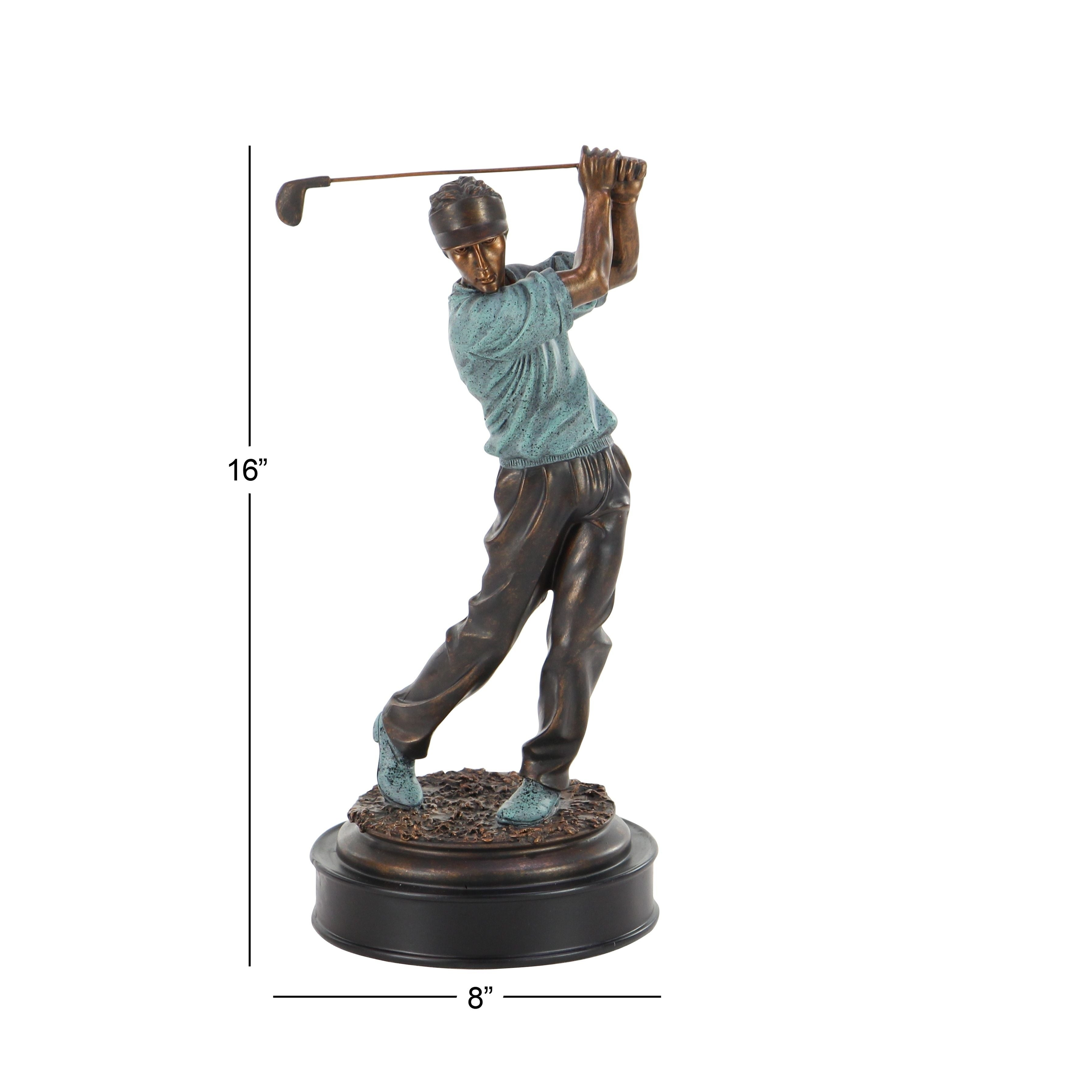 Shop Copper Grove Chatfield Modern Ceramic Swinging Golf Player Sculpture    Free Shipping On Orders Over $45   Overstock.com   21065824