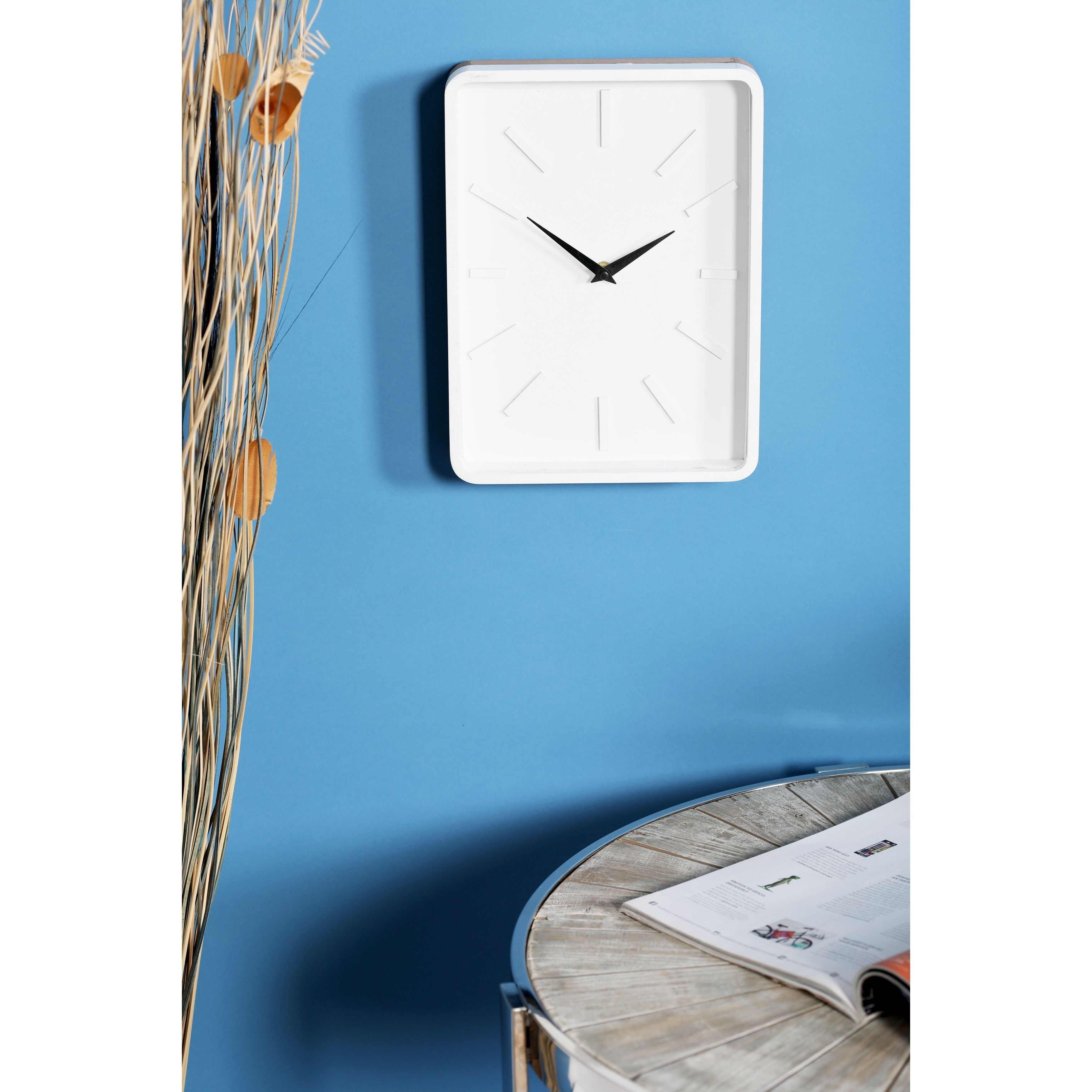 Carson Carrington Alavus Modern Rectangular Wooden Wall Clock On Free Shipping Orders Over 45 21258547