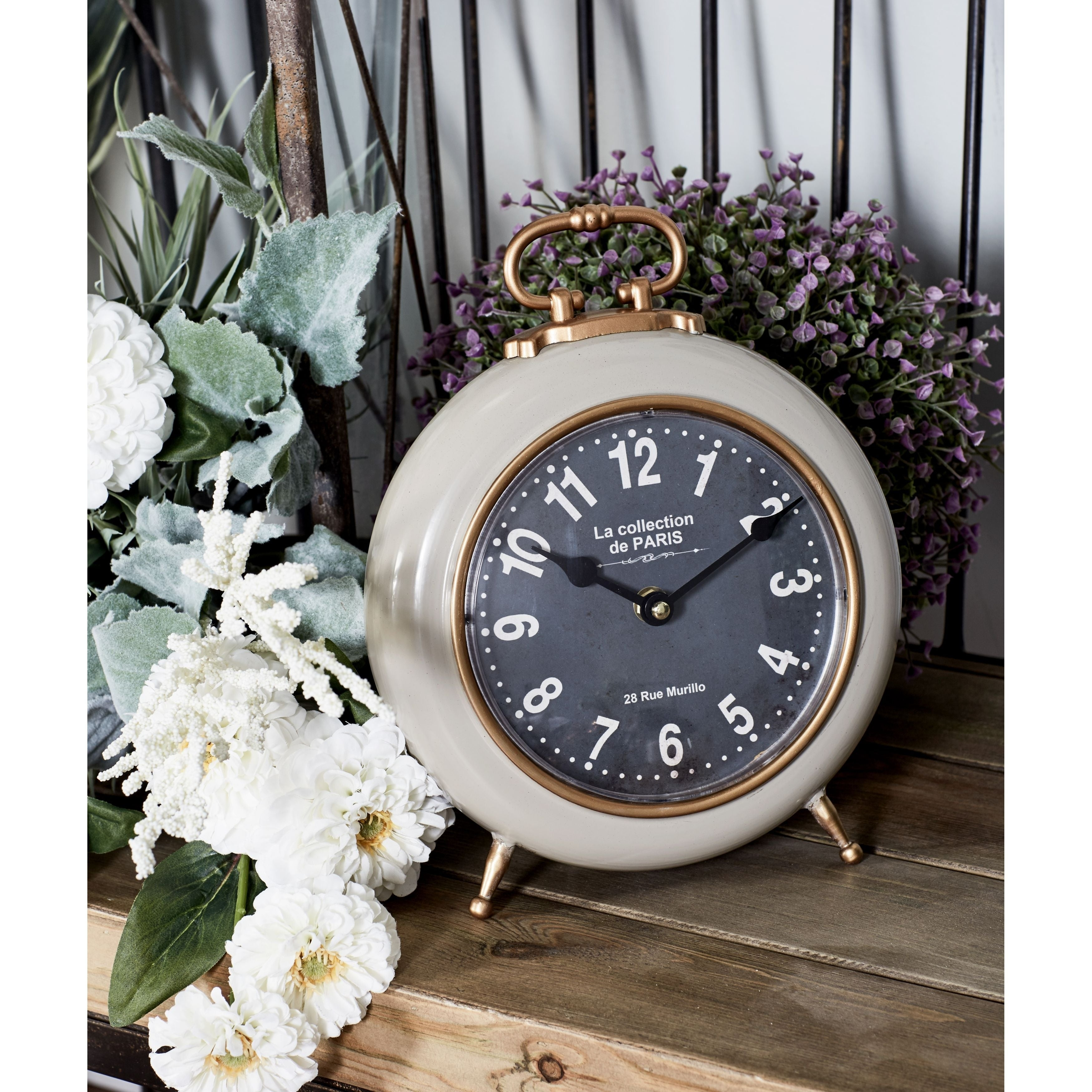 Set Of 3 Contemporary Colored Iron Round Decorative Table Clocks   Free  Shipping Today   Overstock   25551625