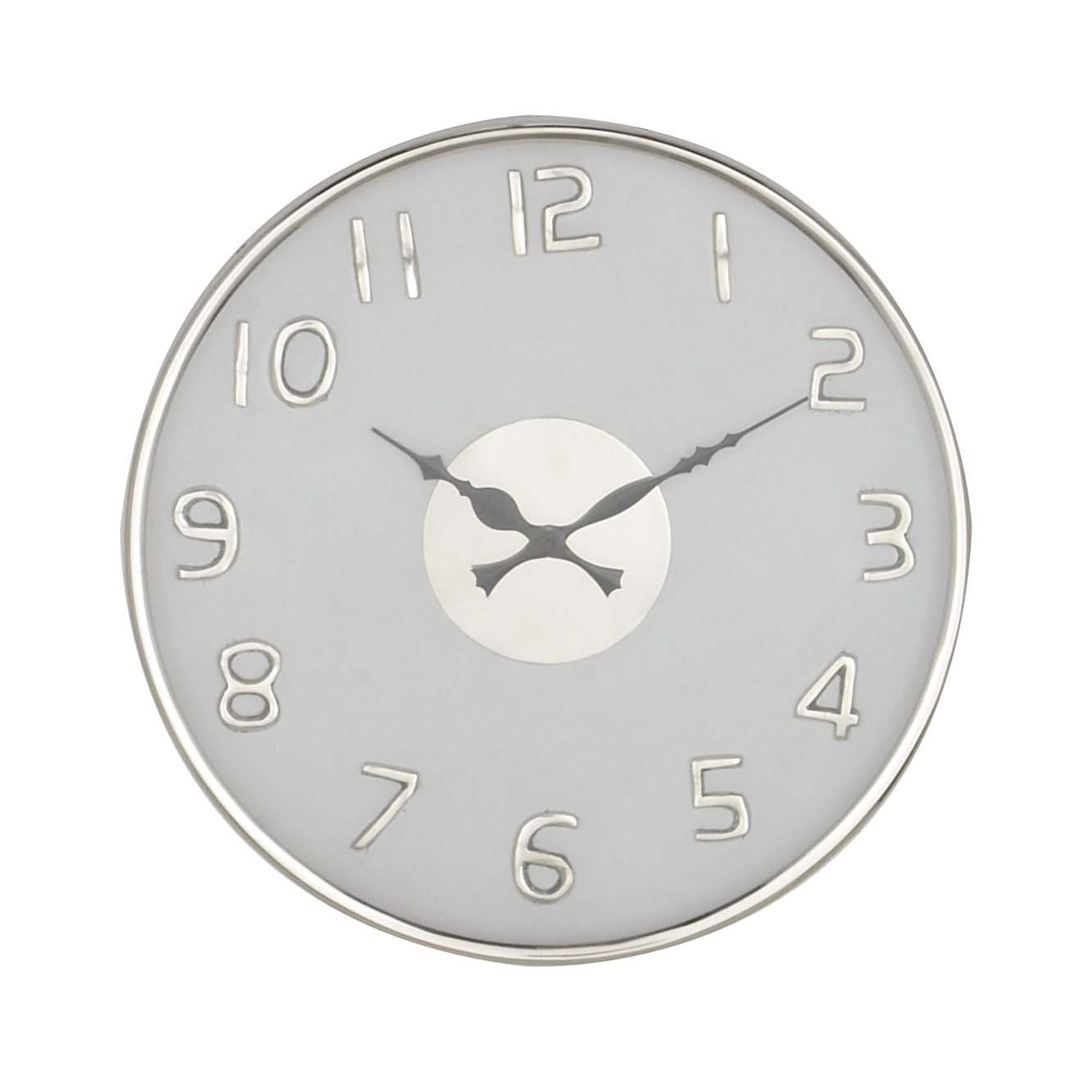 Strick Bolton Montgomery 14 Inch Modern Round White Stainless Steel Wall Clock On Free Shipping Today 21533555