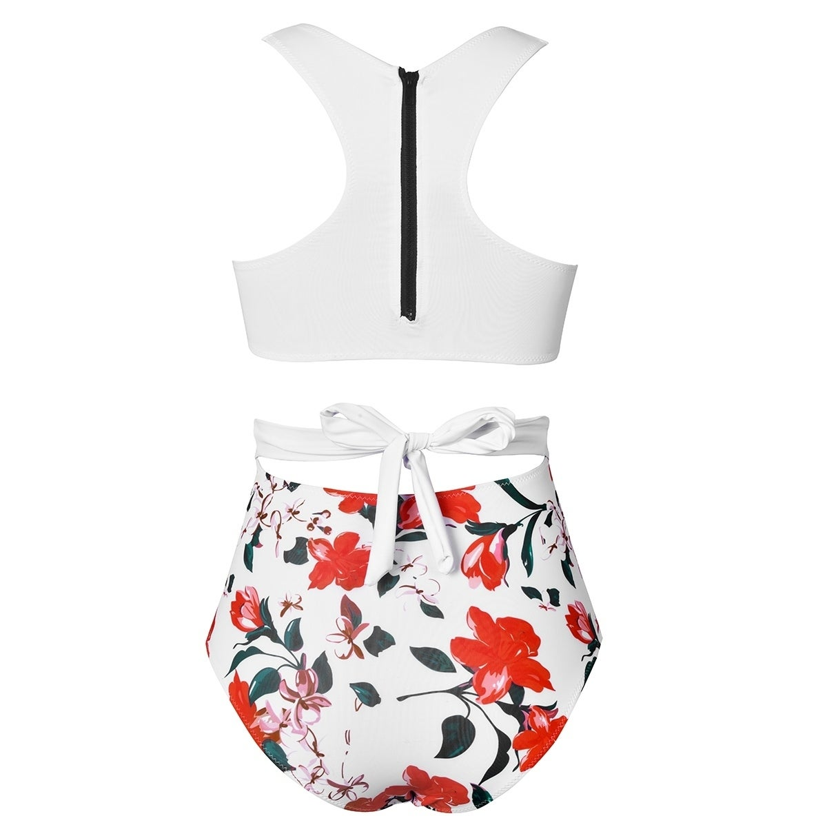 6031381c04 Shop Cupshe Women's Lily Print Padded One-Piece Swimsuit - Free Shipping On  Orders Over $45 - Overstock - 19566198