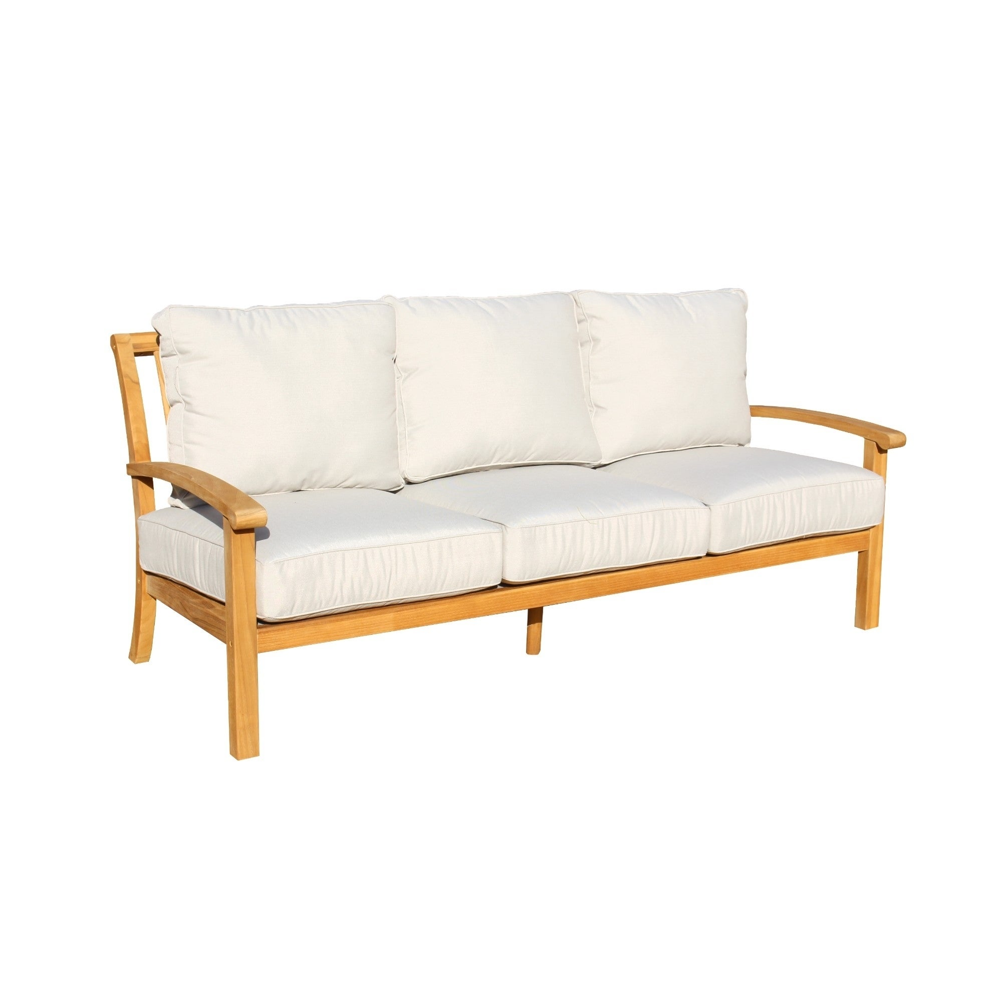 Shop Havenside Home Goodwin Natural Teak Outdoor Sofa - On Sale ...