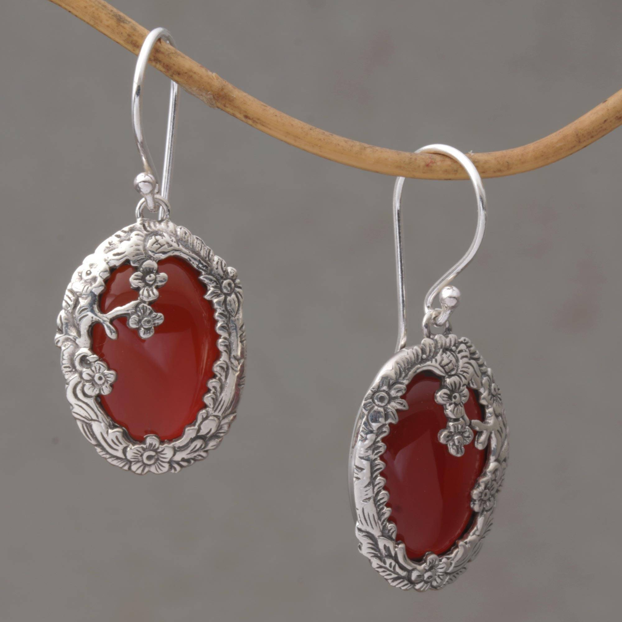 green products coralized carnelian earrings orange collections