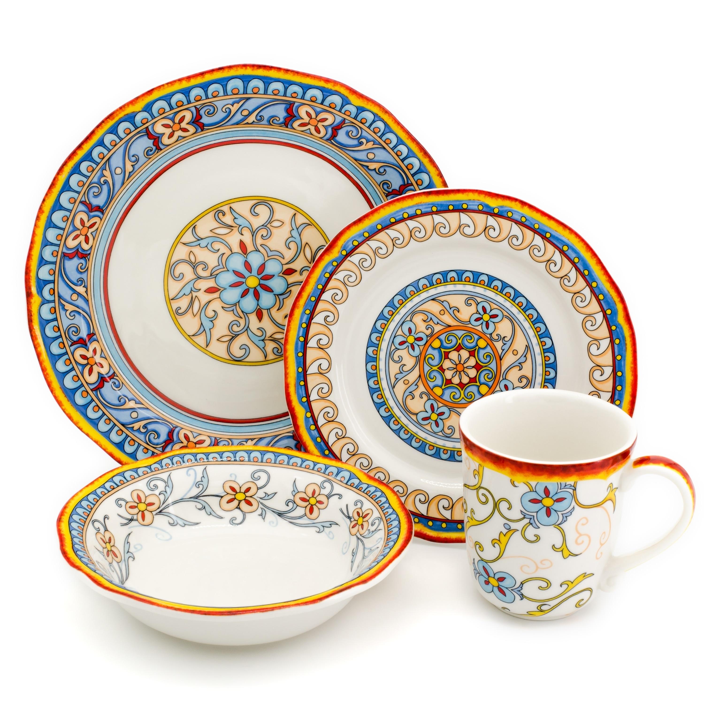 Shop Euro Ceramica Duomo 16-piece Dinnerware Set (Service for 4) - Free Shipping Today - Overstock.com - 25555491  sc 1 st  Overstock & Shop Euro Ceramica Duomo 16-piece Dinnerware Set (Service for 4 ...