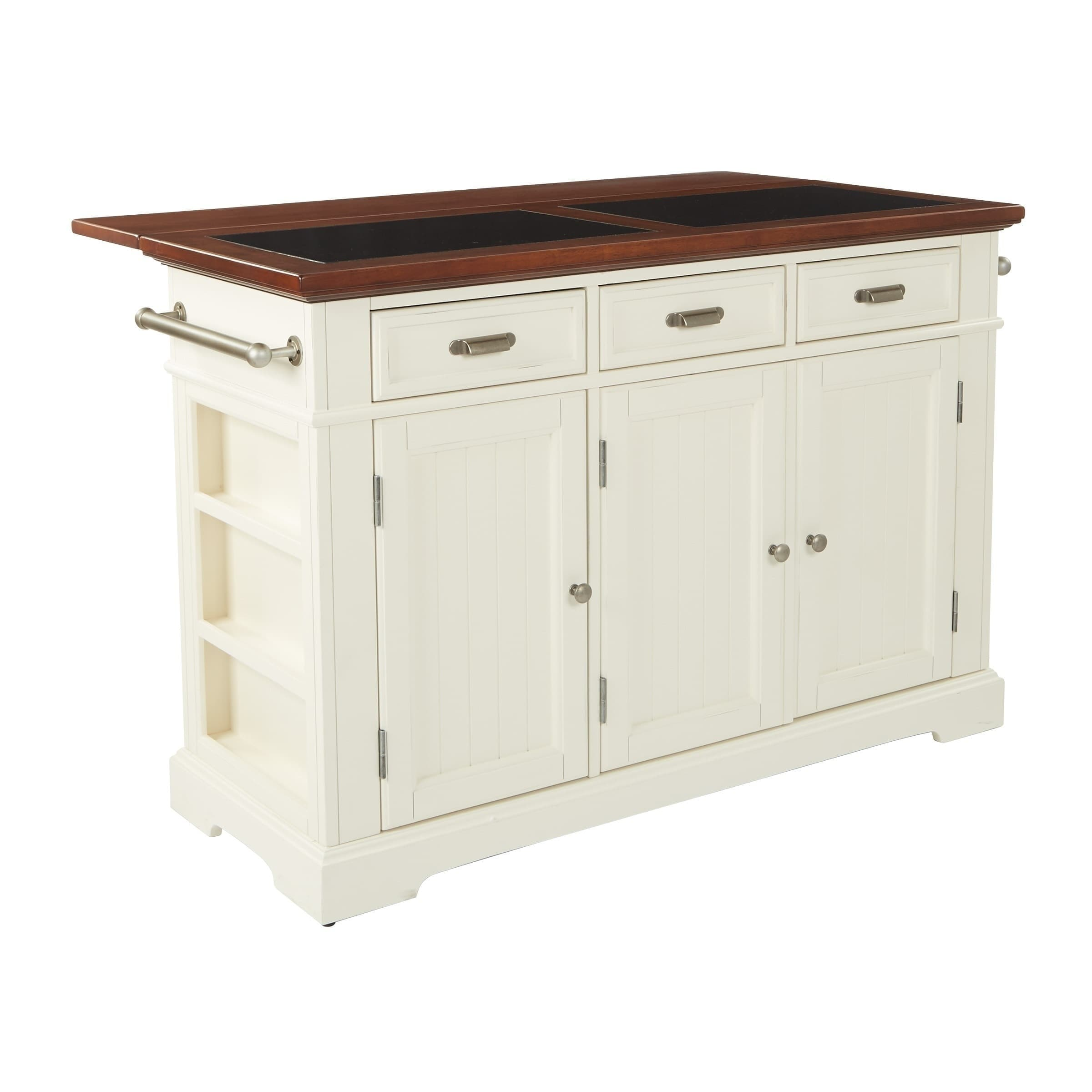 Inspired By Bassett Farmhouse Basics White Kitchen Island With Vintage