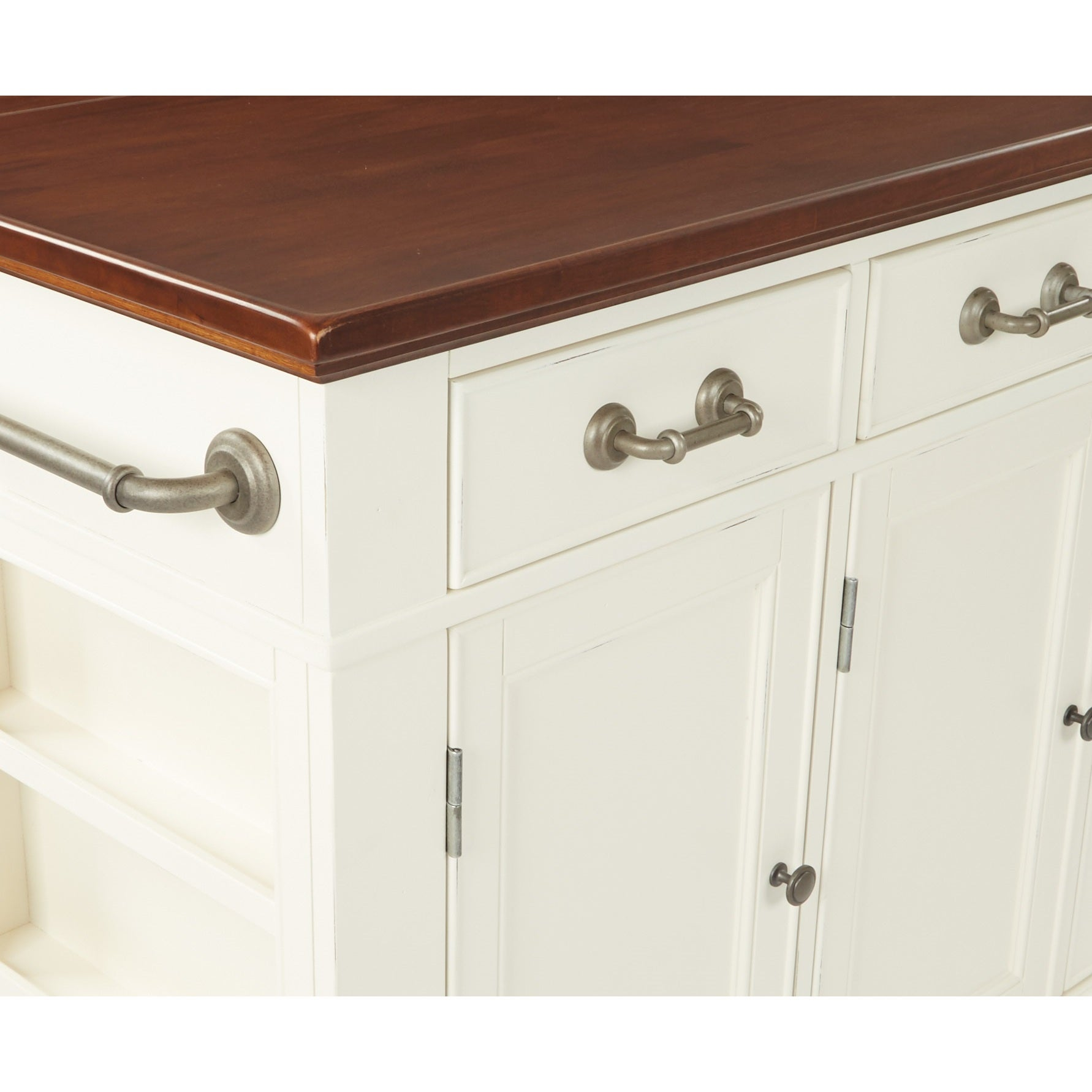 INSPIRED by Bassett Country Kitchen Large Kitchen Island with White ...