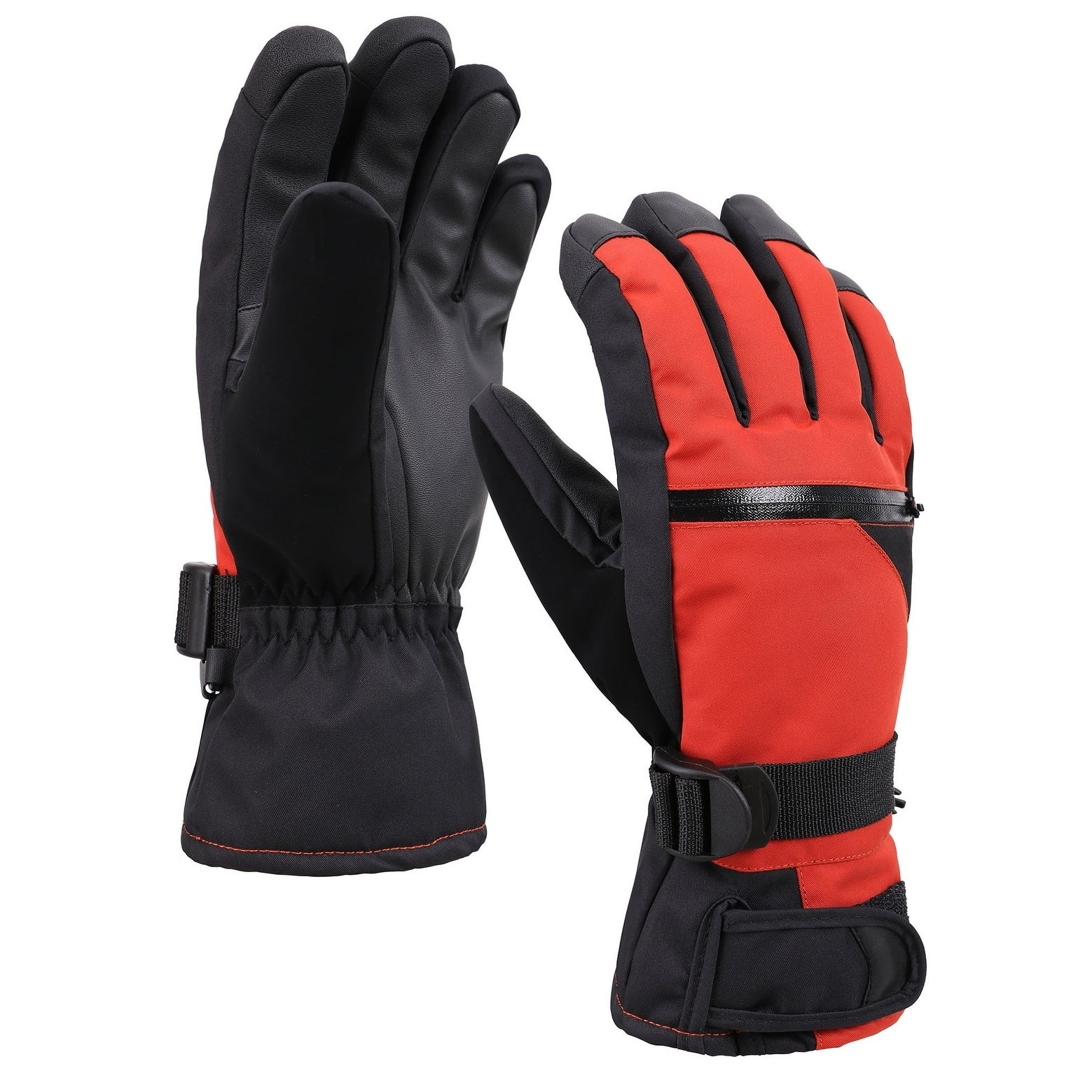 d3b2cf14e239b Shop Men's Classic Touchscreen Ski Glove w/Horizontal Zippered Pocket - On  Sale - Free Shipping On Orders Over $45 - Overstock - 19575058
