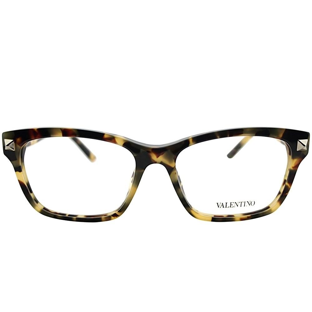 Valentino Square V2667 208 Women Striped Dark Brown Matte Frame ...