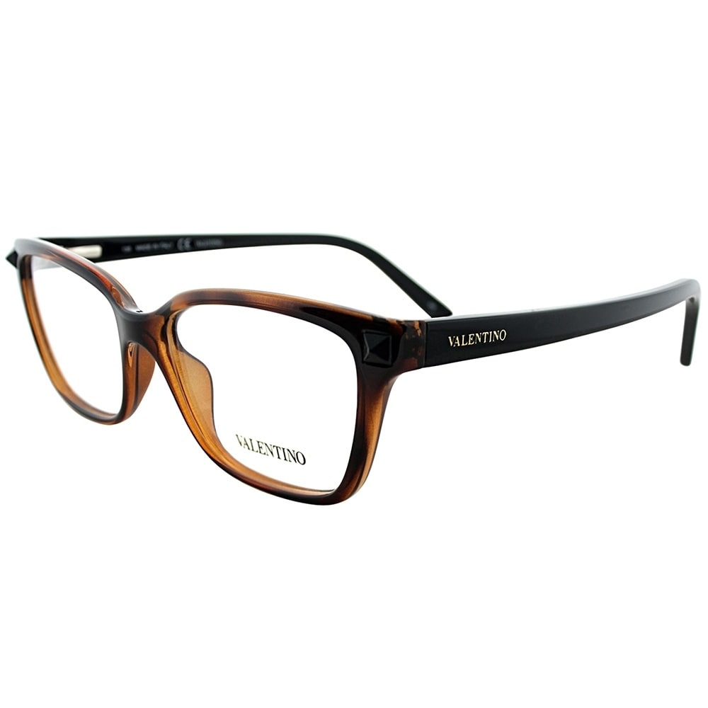 Valentino Rectangle V2676 242 Women Havana Black Frame Eyeglasses ...
