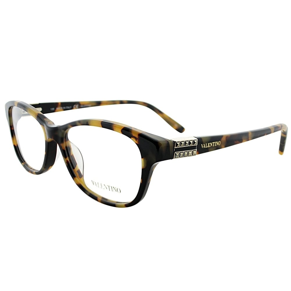 a34c45f55f Shop Valentino Rectangle V2624 280 Women Vintage Havana Frame Eyeglasses -  Free Shipping Today - Overstock.com - 19575473