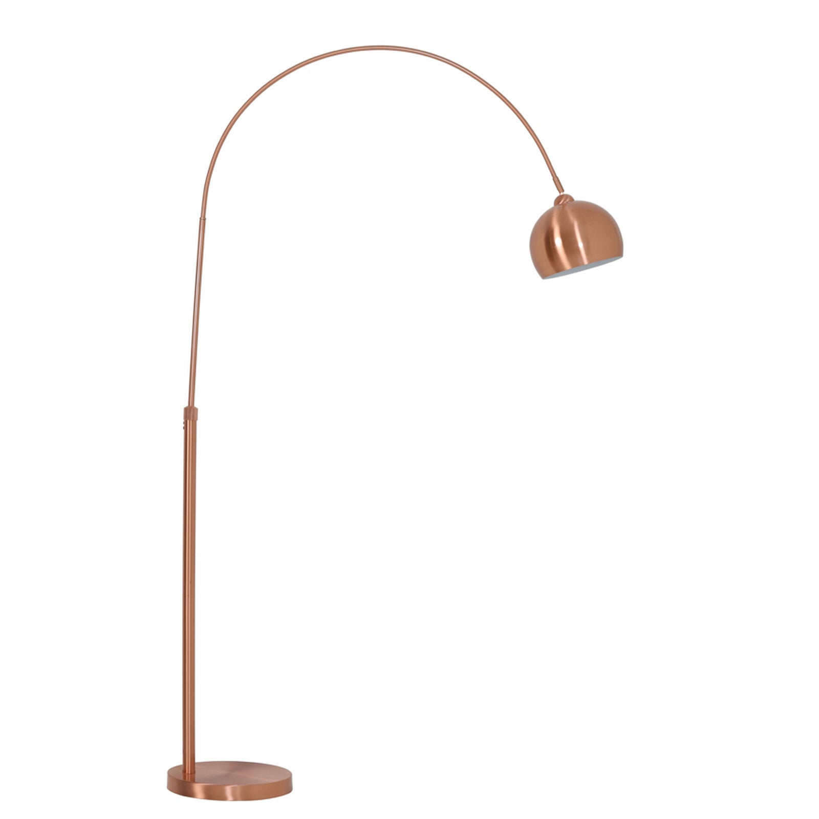Urban Designs Solid Rose Gold Finished Iron 60 Watt 1 Light Arc Style Floor Lamp With Dome Shade And Marble Stone Base Free Shipping Today