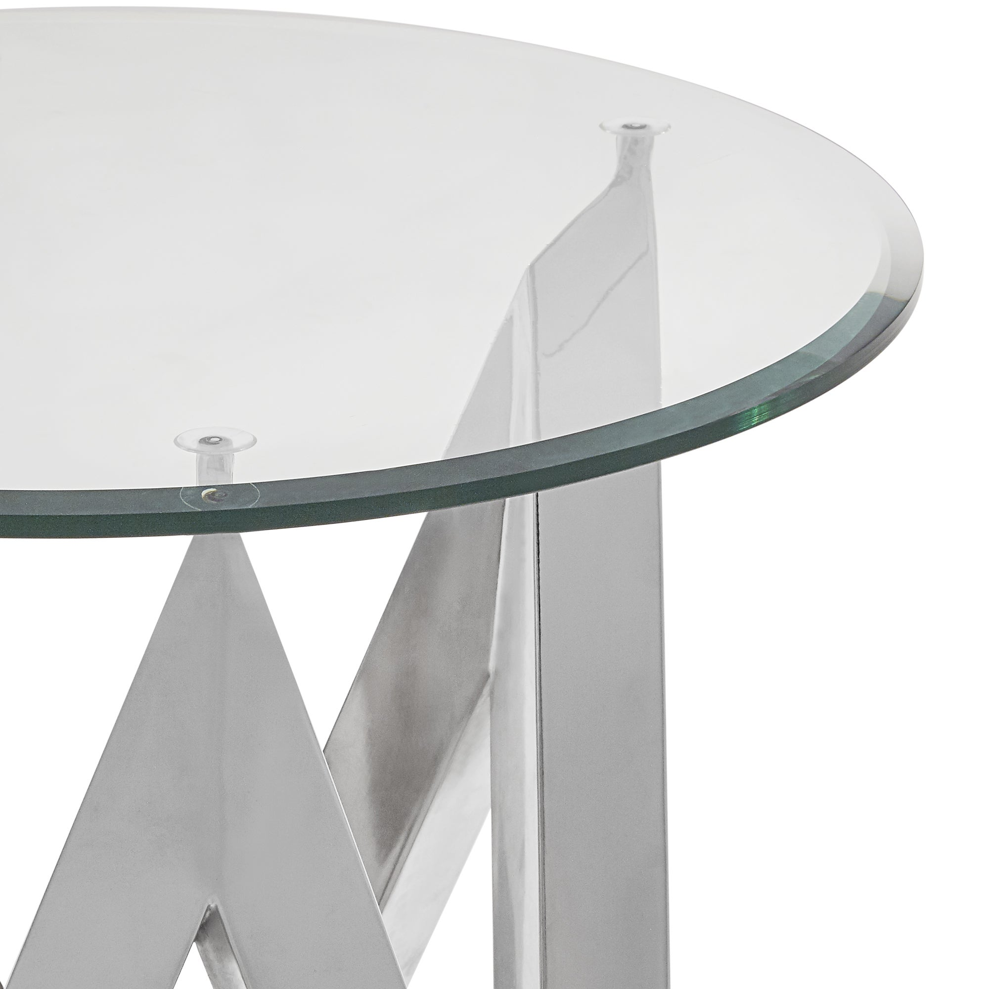 Shop Marlin Angular Chrome And Glass End Table By Inspire Q Bold