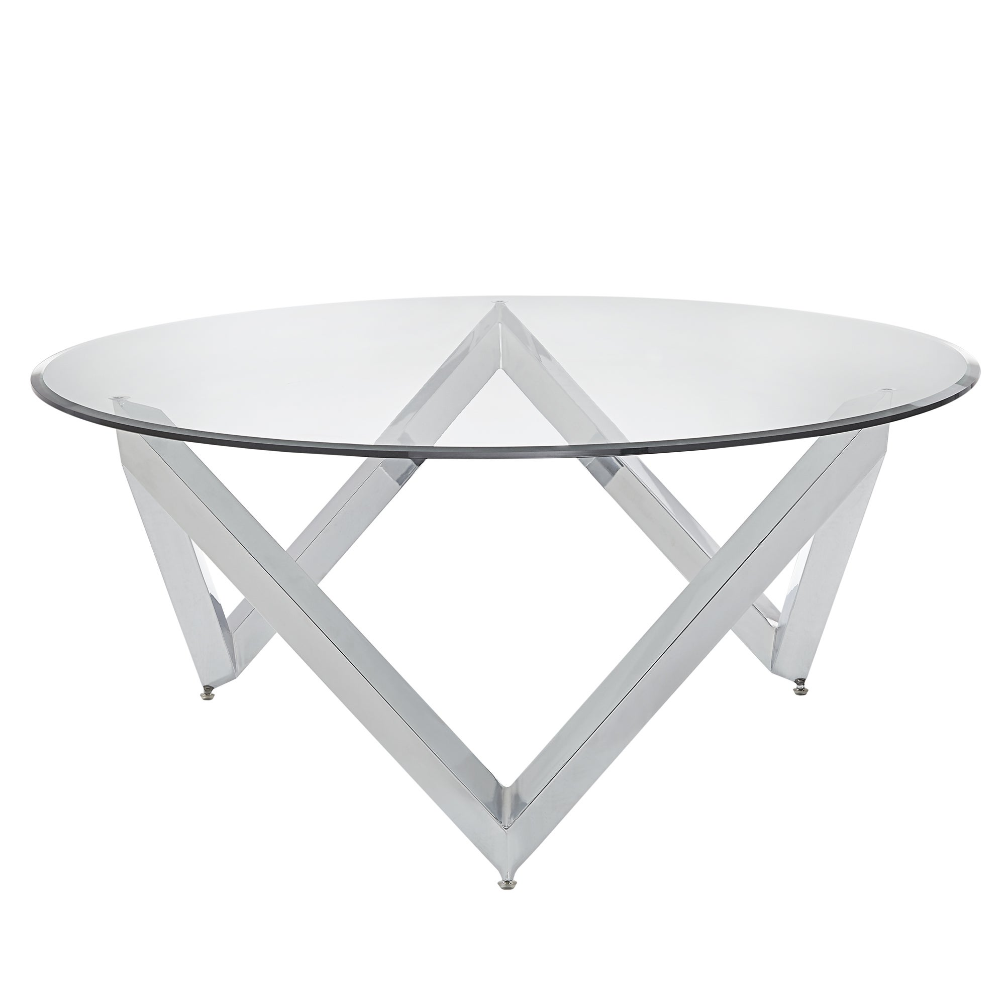 Marlin Angular Chrome And Gl Accent Tables By Inspire Q Bold Free Shipping Today 19577739