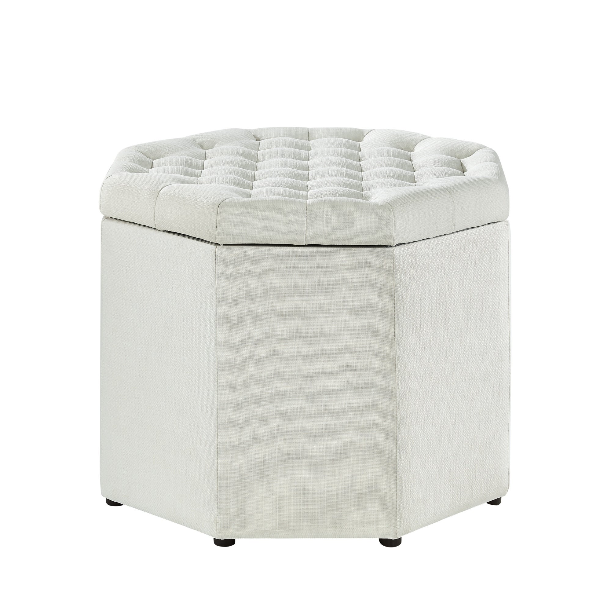 Inspired Home Amara Upholstered Tufted Octagon Storage Ottoman - Free  Shipping Today - Overstock.com - 25563787