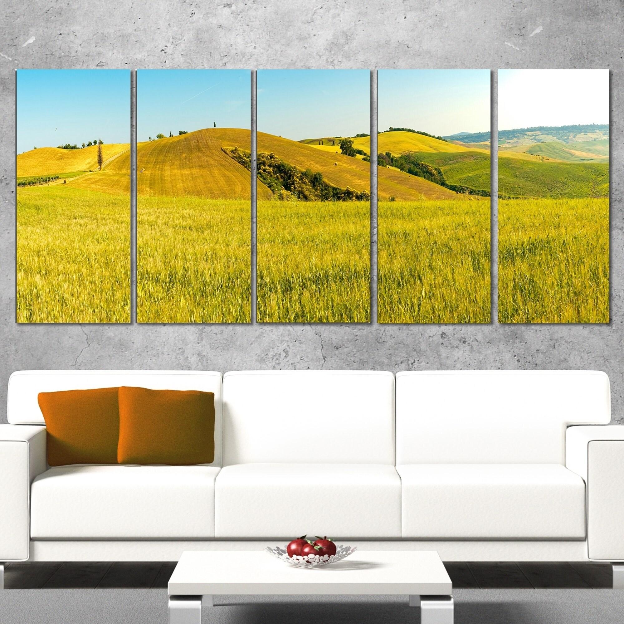 Shop Tuscany Wheat Field on Sunny Day - Landscape Print Wall Artwork ...