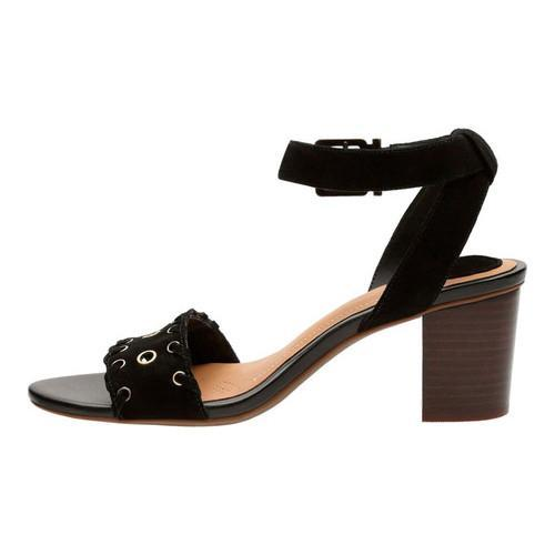 Women's Clarks Ralene Sheen Ankle Strap Sandal Black Suede - Free Shipping  Today - Overstock.com - 23653445