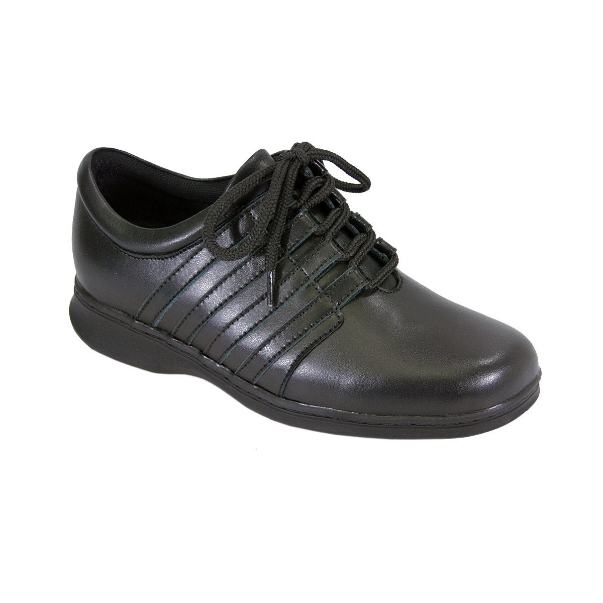 5b8109774f20 24 HOUR COMFORT Lara Women Wide Width Side Stitched Oxford LaceUp Shoe