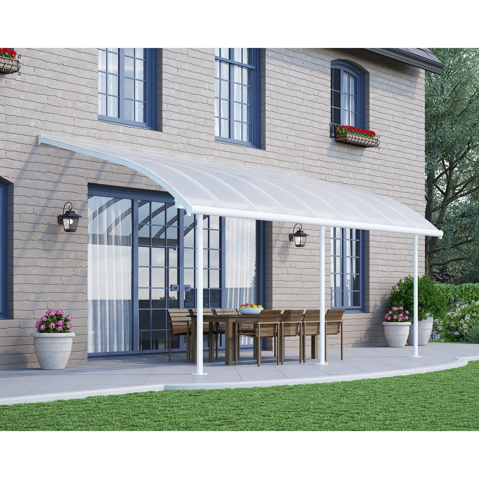 Shop Palram Joya Patio Cover White/Clear   Free Shipping Today    Overstock.com   19661649