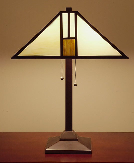 Tiffany Style White Mission Style Table Lamp   Free Shipping Today    Overstock.com   10281348