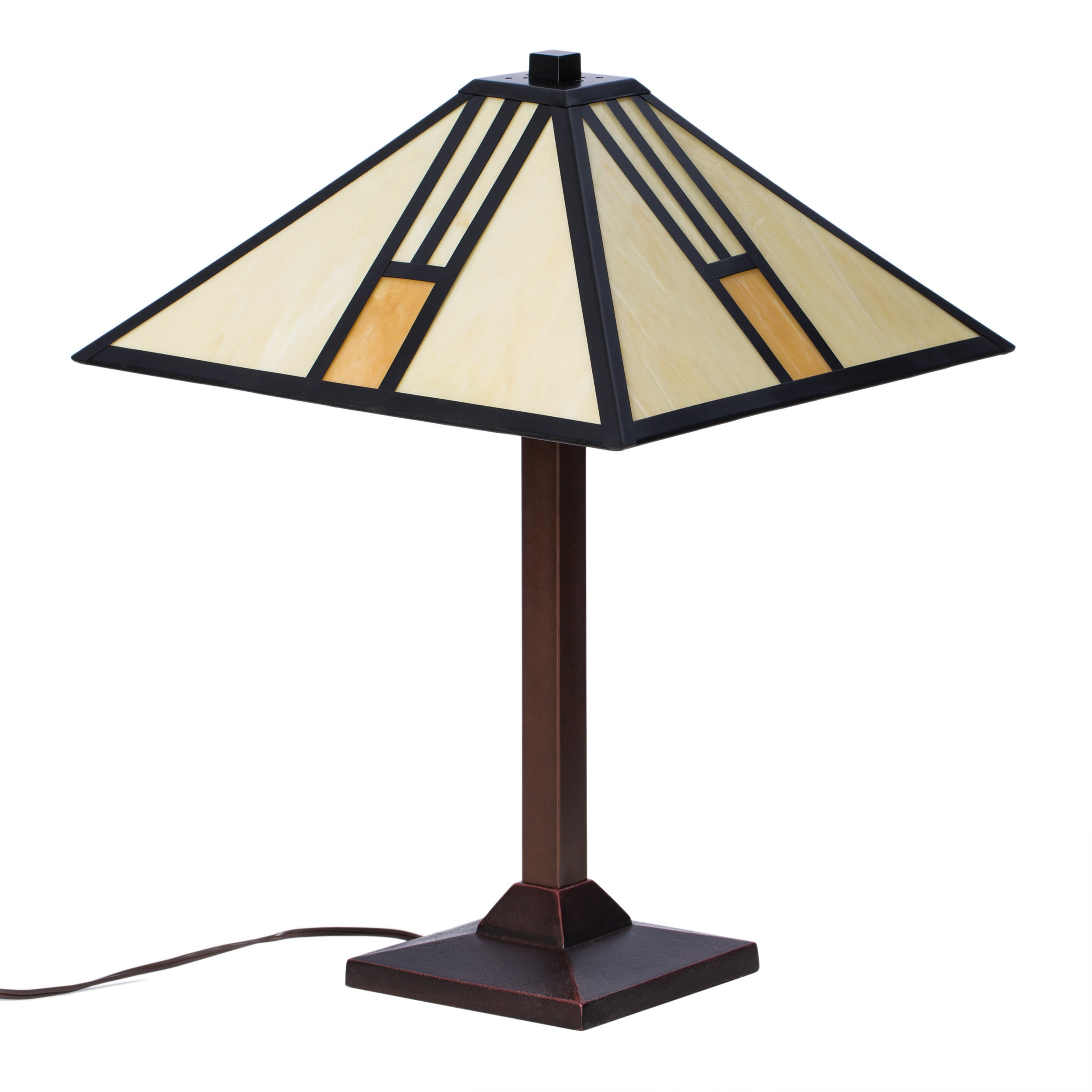 Shop Tiffany Style White Mission Style Table Lamp   Free Shipping Today    Overstock.com   1966191