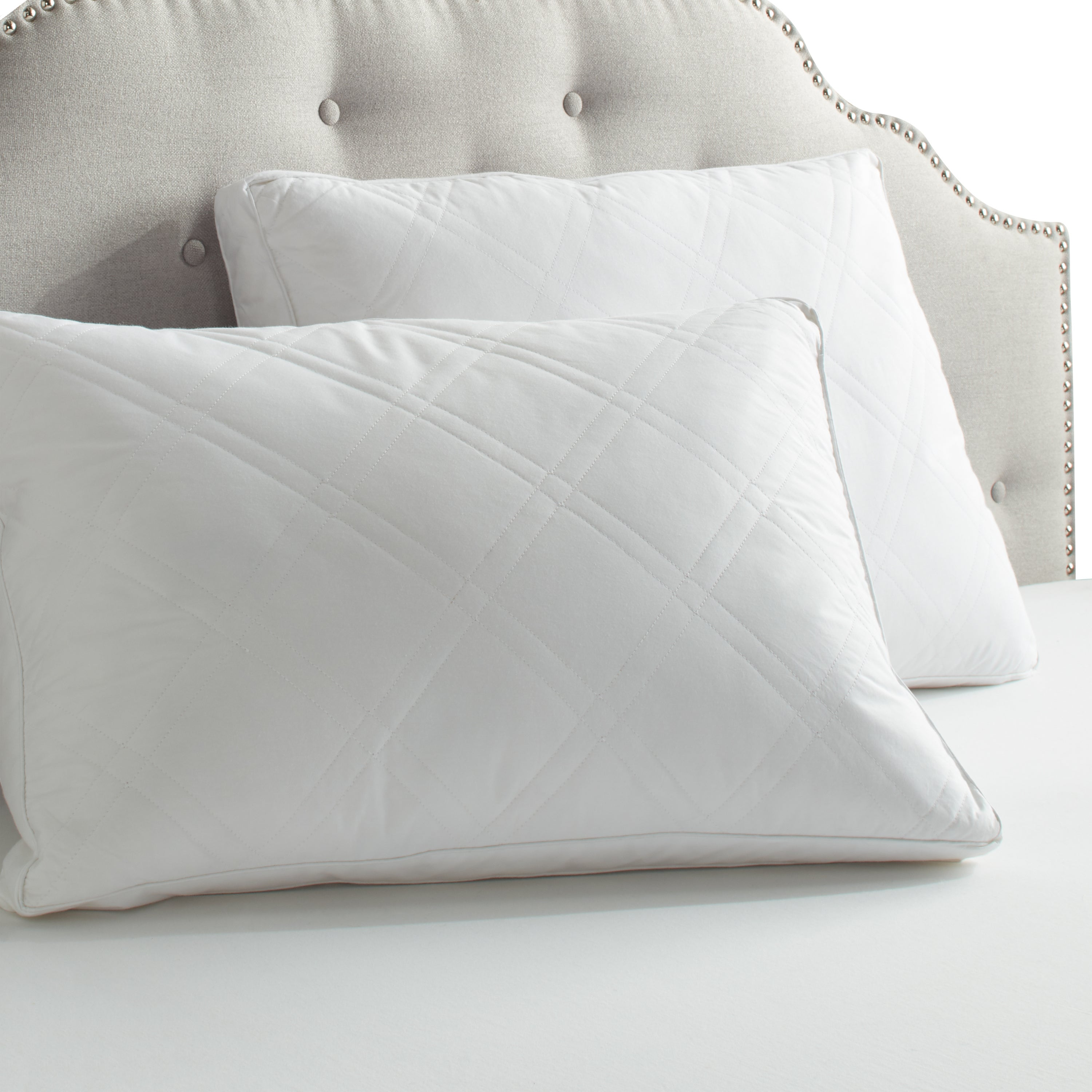 mm down std standard feather moemoe d boutique pillows products pair the green f pillow