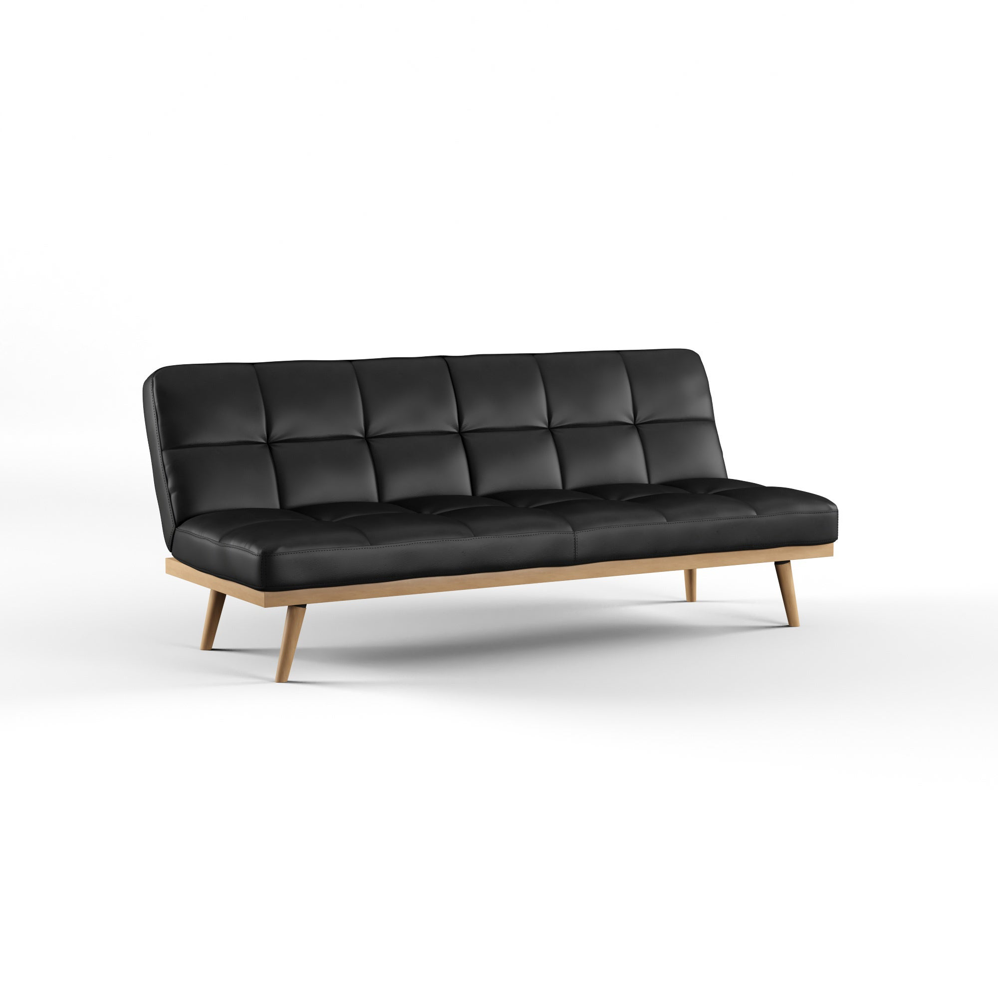 dhp leather used black emily couch buy sofas off faux convertible futon