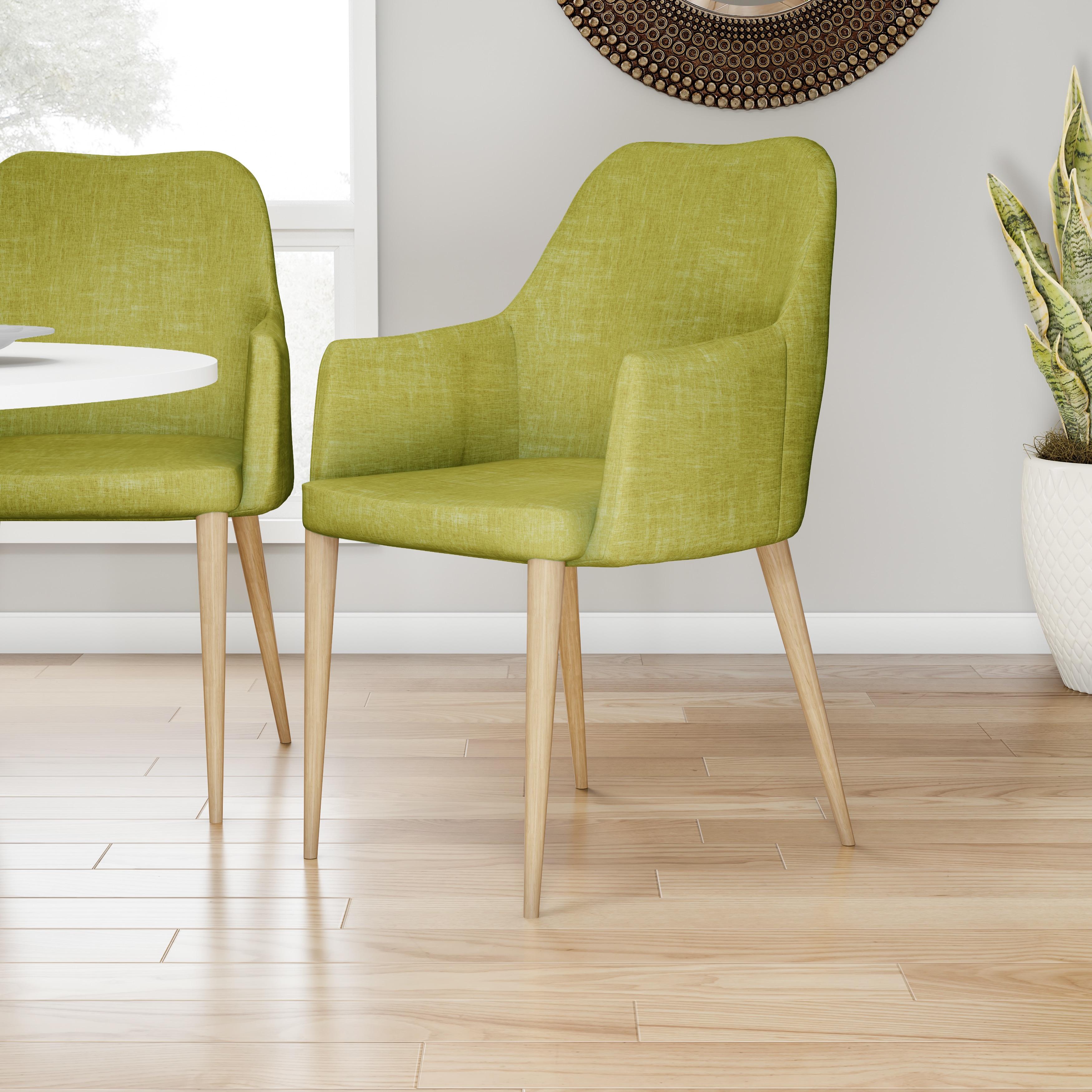 Shop Carson Carrington Pori Mid Century Modern Fabric Dining Chair