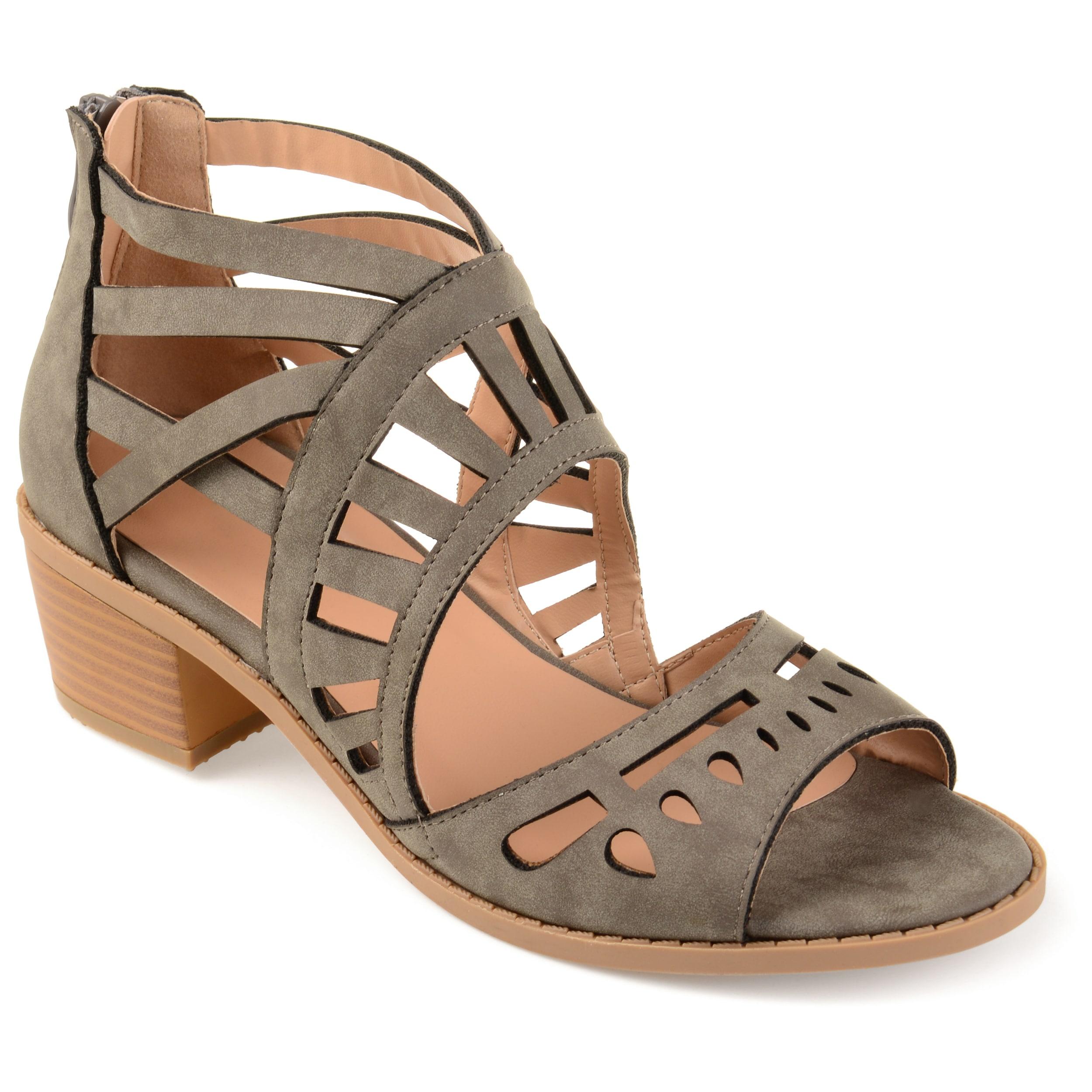 d1e893243db Journee Collection Women s  Dexy  Open-toe Faux Nubuck Laser-cut Sandals