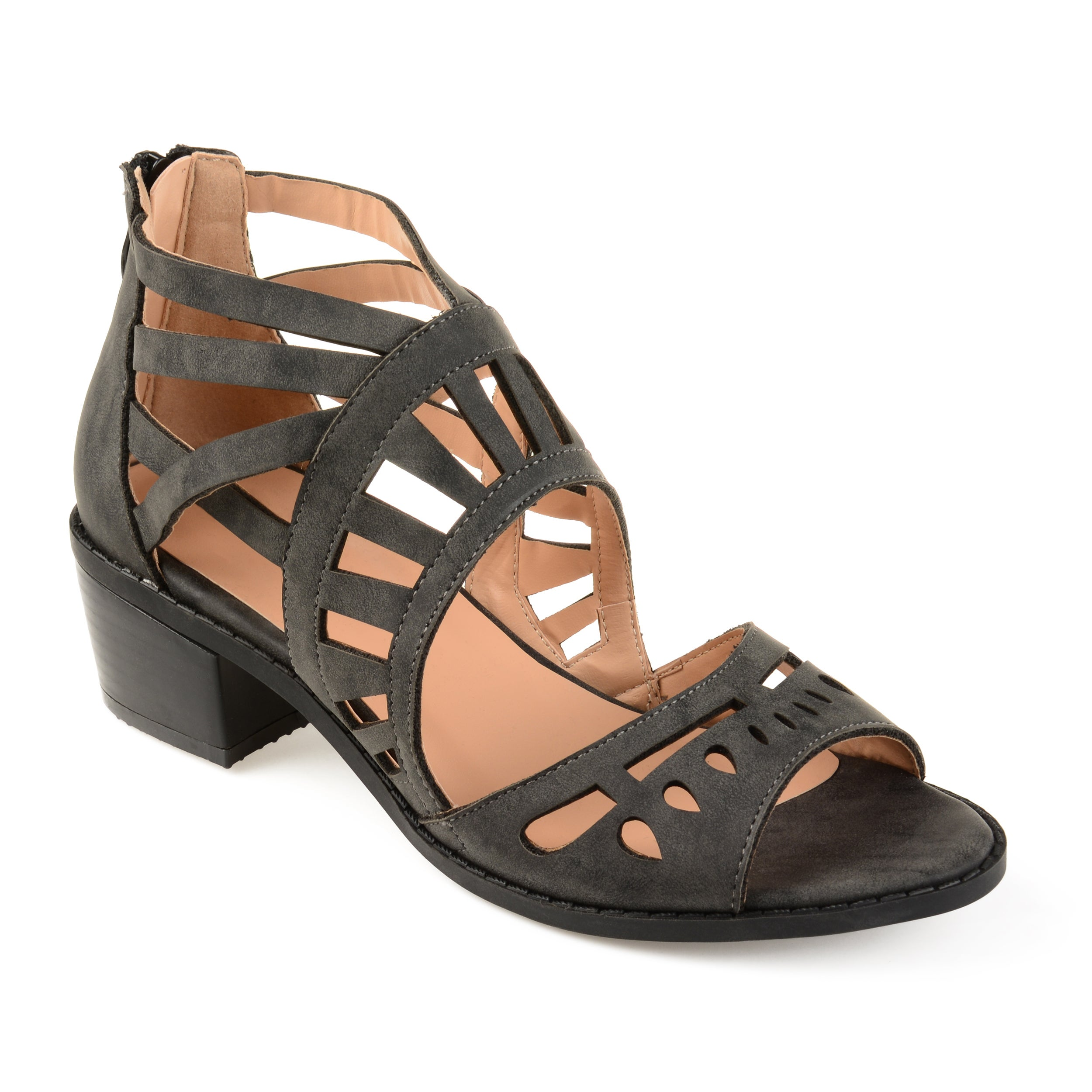 69ffd2c4882c Shop Journee Collection Women s  Dexy  Open-toe Faux Nubuck Laser-cut  Sandals - On Sale - Free Shipping Today - Overstock - 19667988