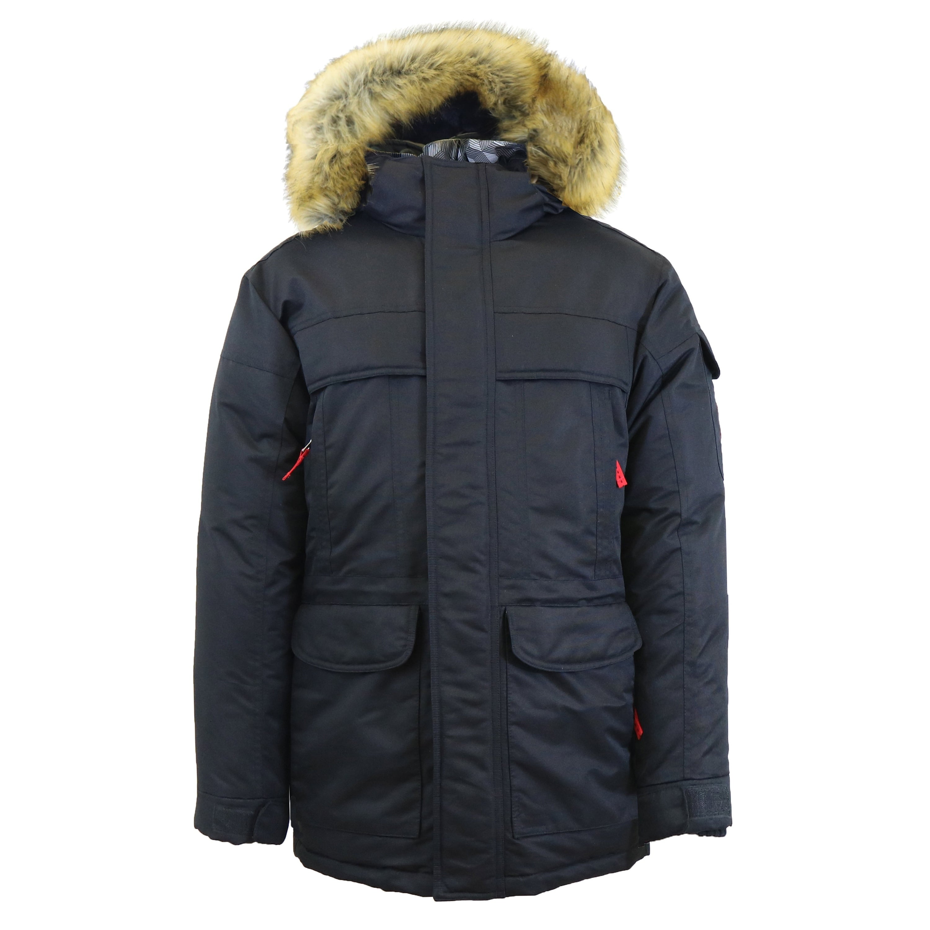 1bcde07d4 Spire By Galaxy Men's Heavyweight Parka Jacket With Detachable Hood