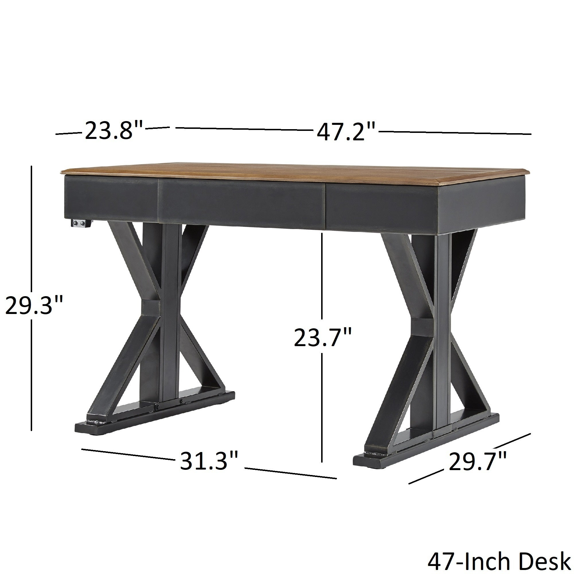 Cabella Adjustable Height X-base Standing Desk by iNSPIRE Q Classic - Free  Shipping Today - Overstock.com - 25618771