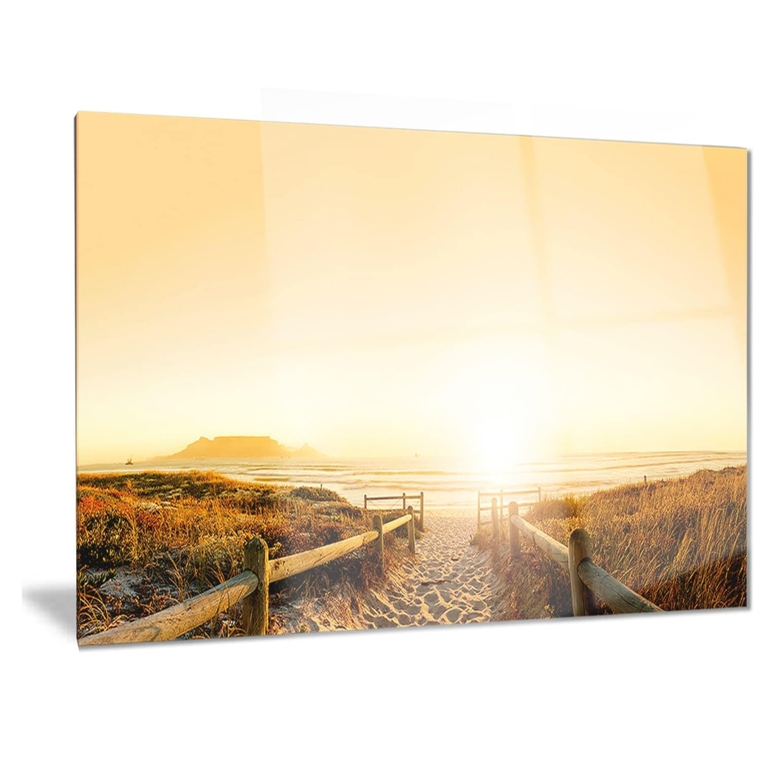 Designart \'Beach near Cape Town Panorama\' Photo Metal Wall Art ...