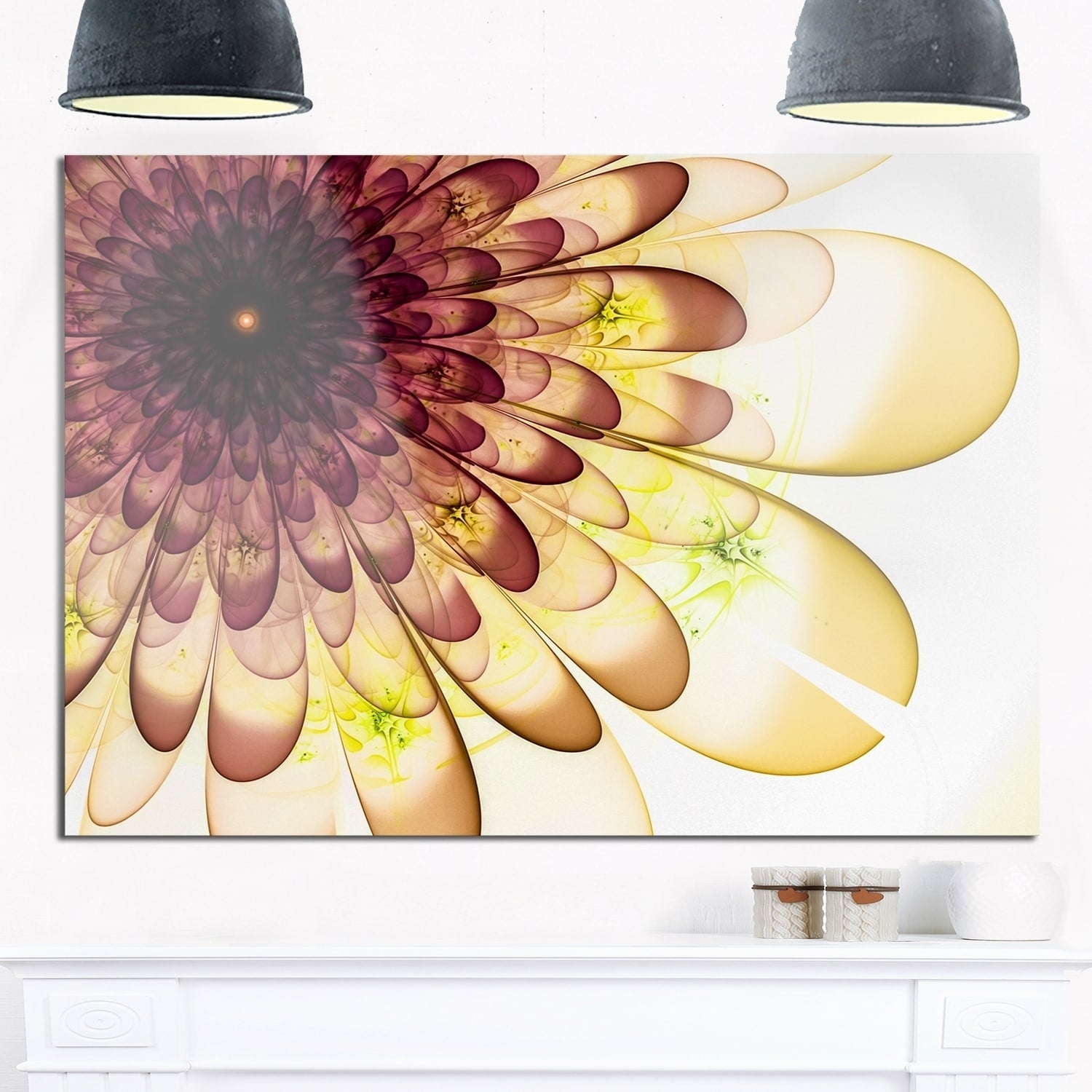 Shop Phase1 Brown Yellow Typical Flower Fractal - Floral Glossy ...