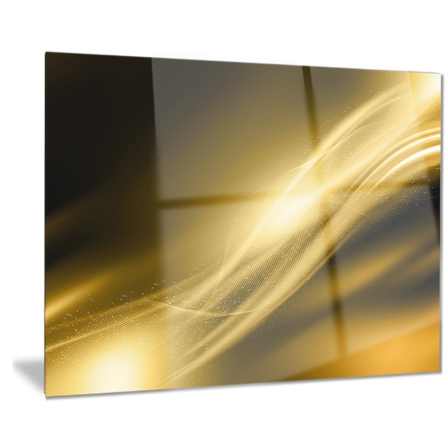 Phase1 Designart \'Sparkle Gold Texture Pattern\' Abstract Digital Art ...