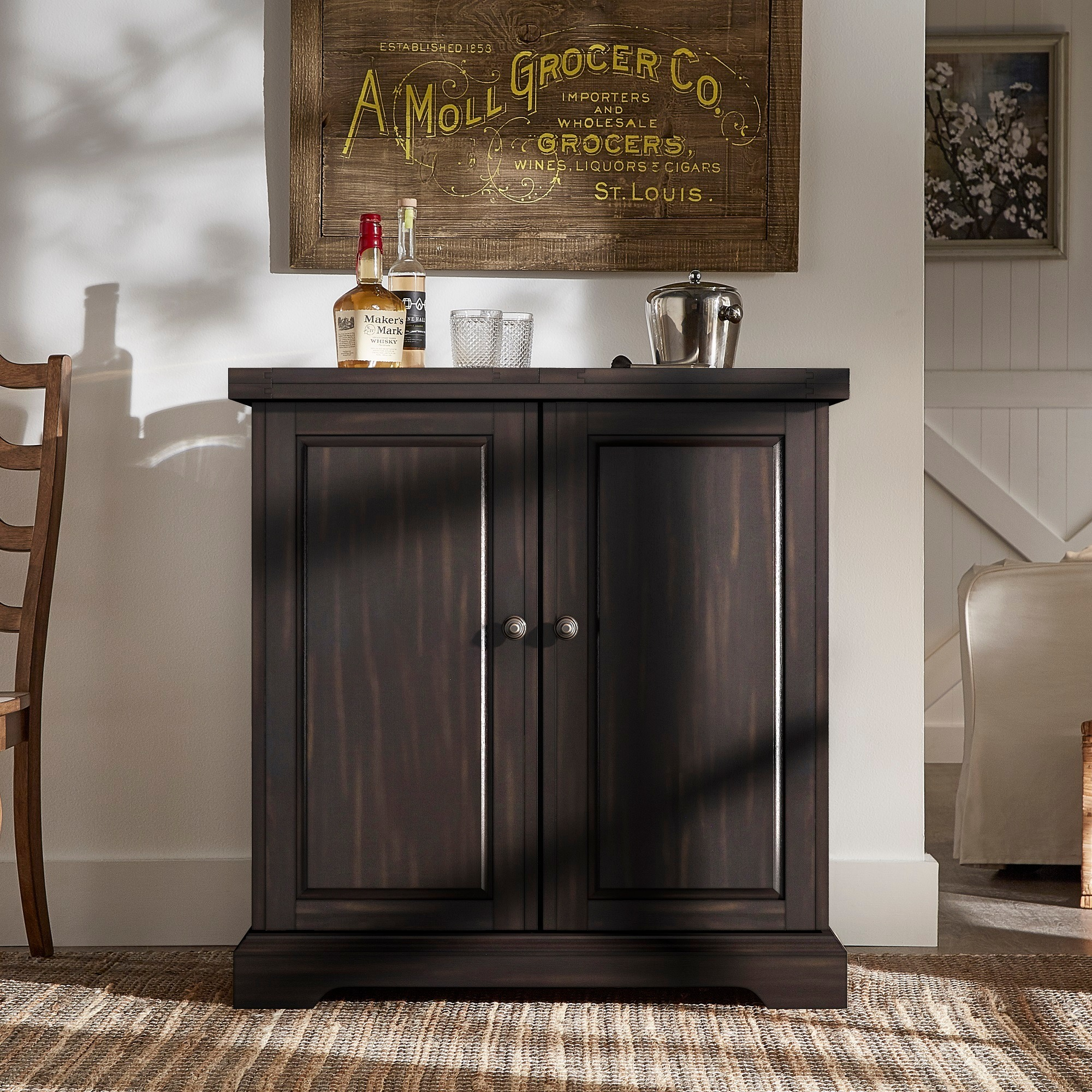 Astrid Expandable Wood Bar Cabinet Server by iNSPIRE Q Classic - Free  Shipping Today - Overstock.com - 25620958