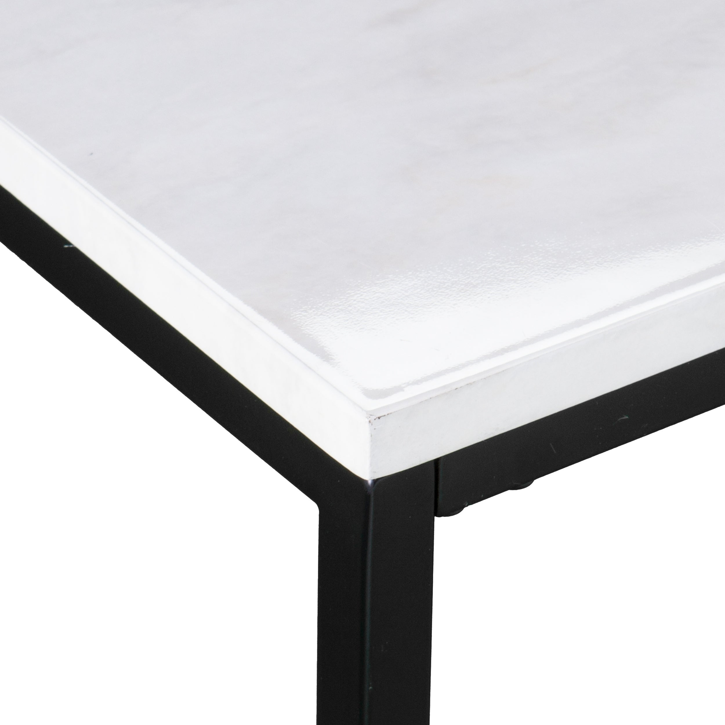 Holly U0026 Martin Corman Black W/ Gray Faux Marble Narrow Console Table   Free  Shipping Today   Overstock   25624707