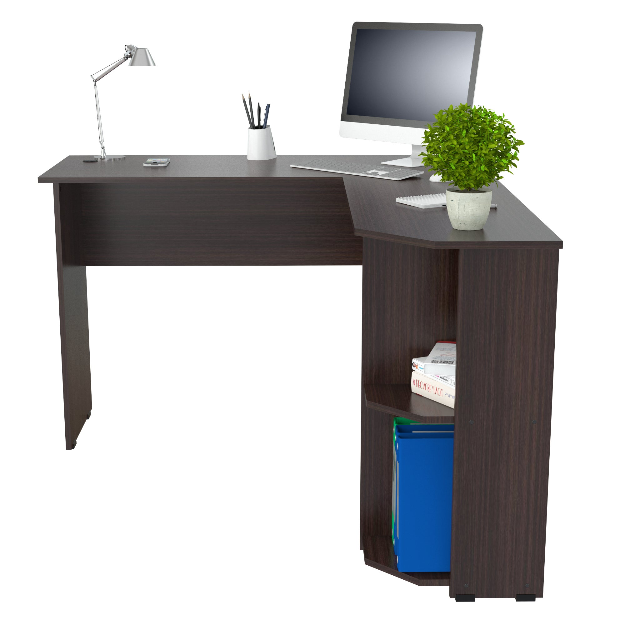 Inval Merlin Corner Desk Free Shipping Today 19676049