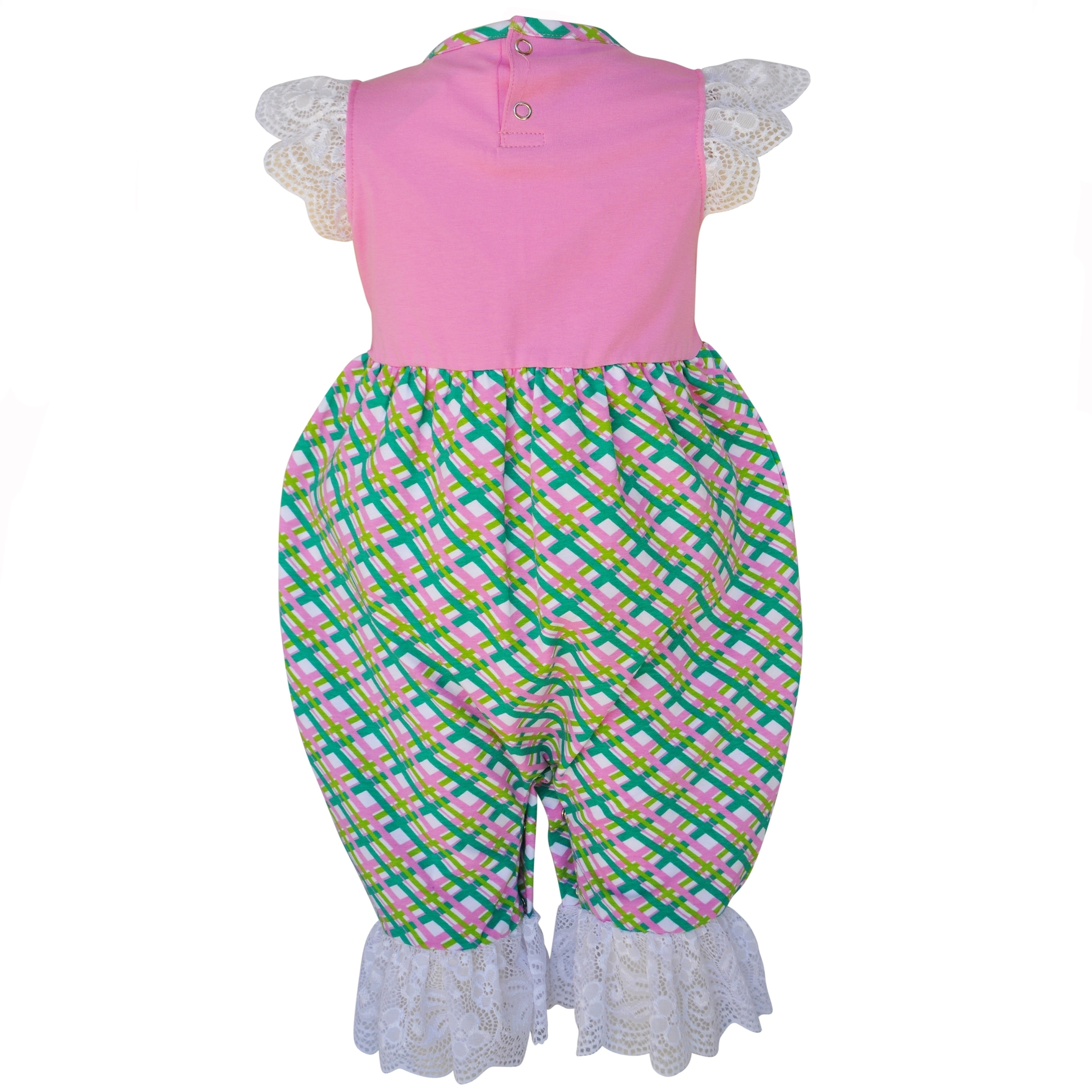 3a28c5cca9e6 Shop AnnLoren Baby Girls Boutique Cotton Easter Bunny Gingham Romper - On  Sale - Free Shipping On Orders Over  45 - Overstock.com - 19679016
