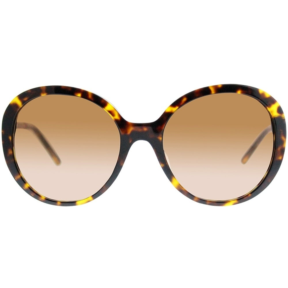 6a9d98260d09f Shop Burberry Round BE 4239QF Asian Fit 300213 Women Dark Havana Frame  Brown Gradient Lens Sunglasses - Free Shipping Today - Overstock - 19680952