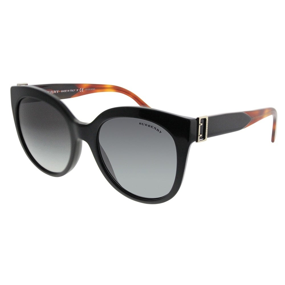 19d4a9074cd5 Shop Burberry Cat-Eye BE 4243 36378G Women Black Frame Grey Gradient Lens  Sunglasses - Free Shipping Today - Overstock.com - 19680958