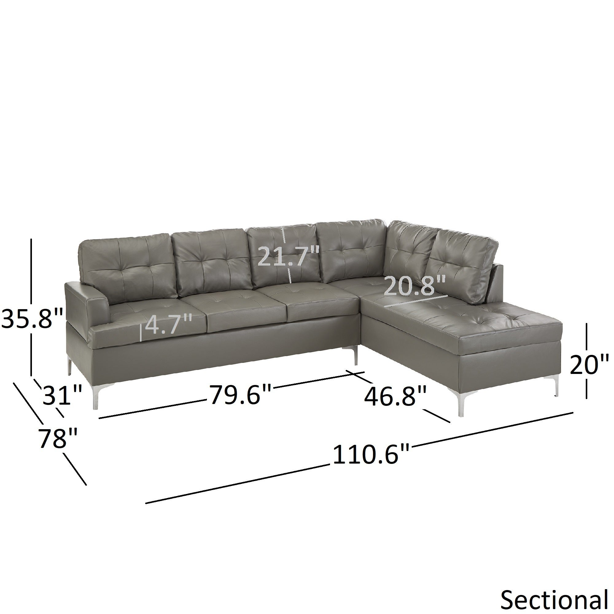 of couch gray blue size leather orange tufted sofas sofa sectional full recliner sleeper brown