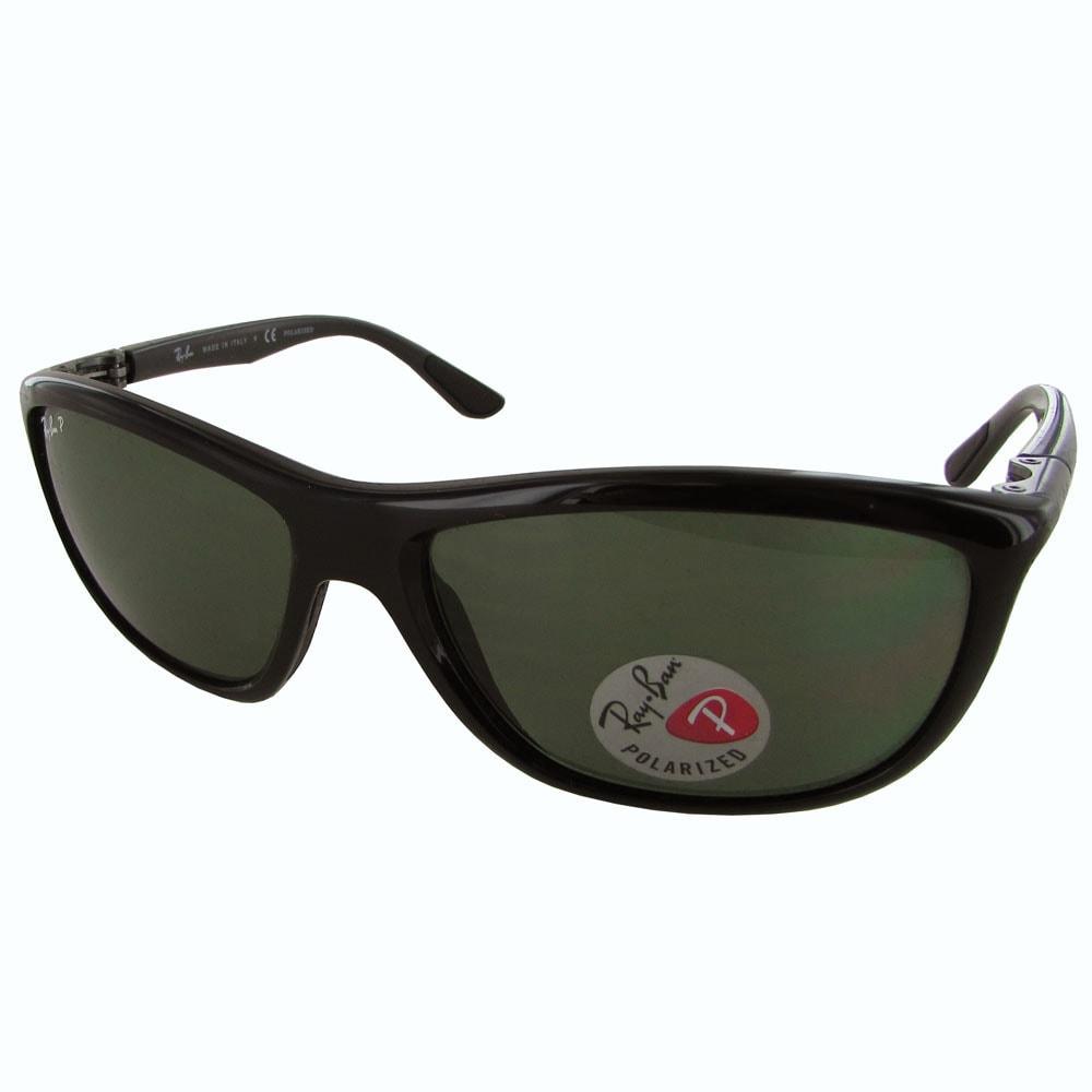 bd5d086cd62 Ray-Ban Polarized RB8351 Mens Black Frame Polarized Green Classic G-15 Lens  Sunglasses