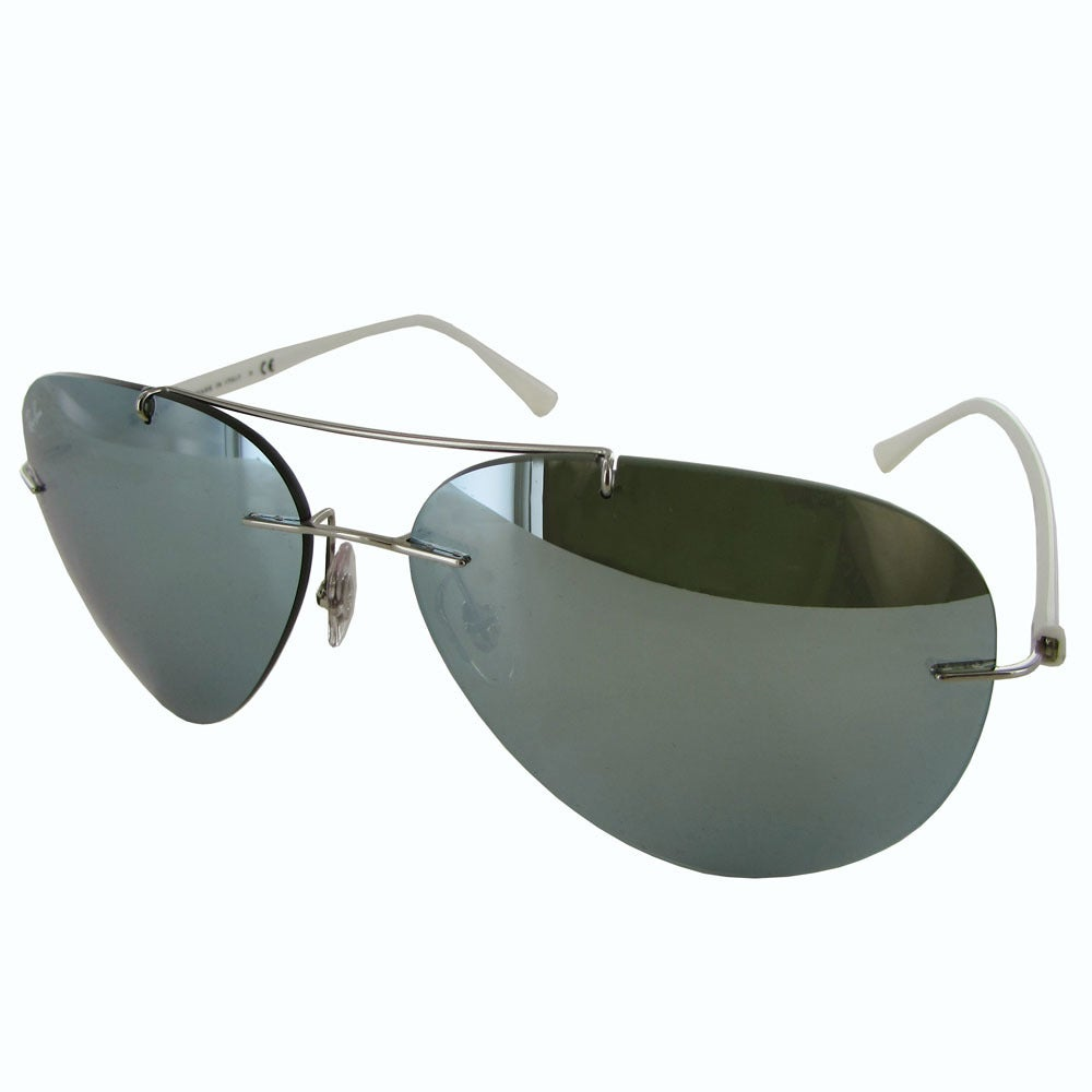 0561be0e10 Shop Ray-Ban Titanium Pilot RB8058 Mens Silver Frame Silver Mirror Lens  Sunglasses - Free Shipping Today - Overstock - 19684983