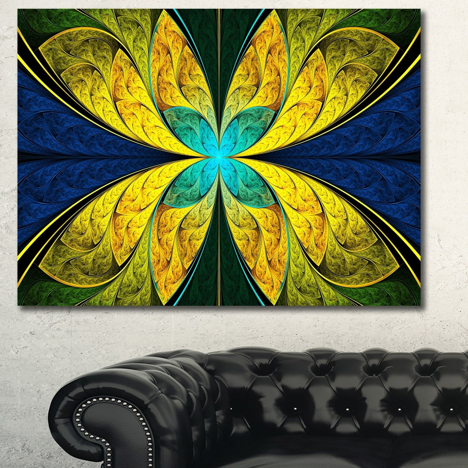 Fancy Blue Flower Wall Art Component - All About Wallart ...